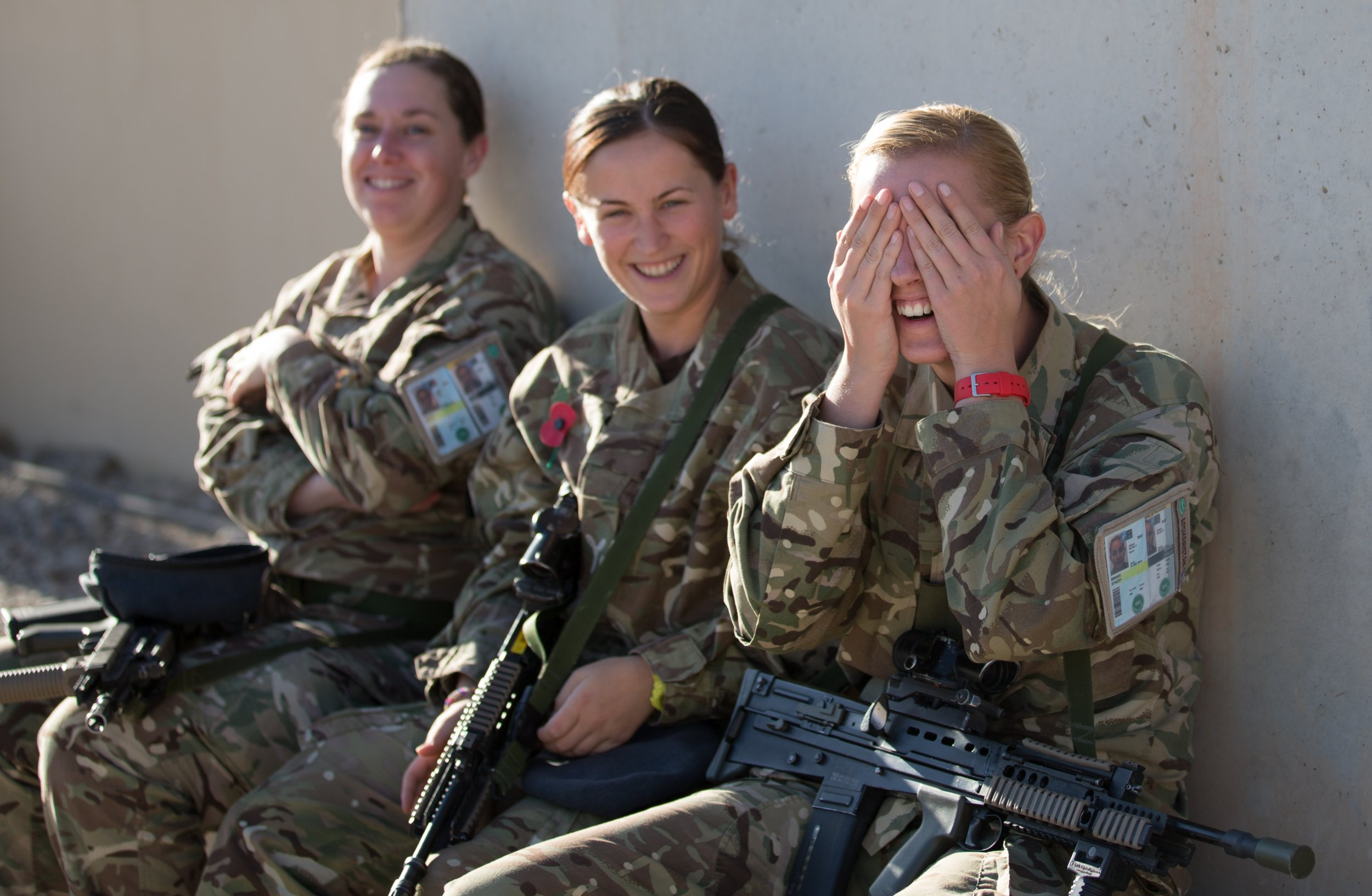 British female soldiers in Afghanistan.