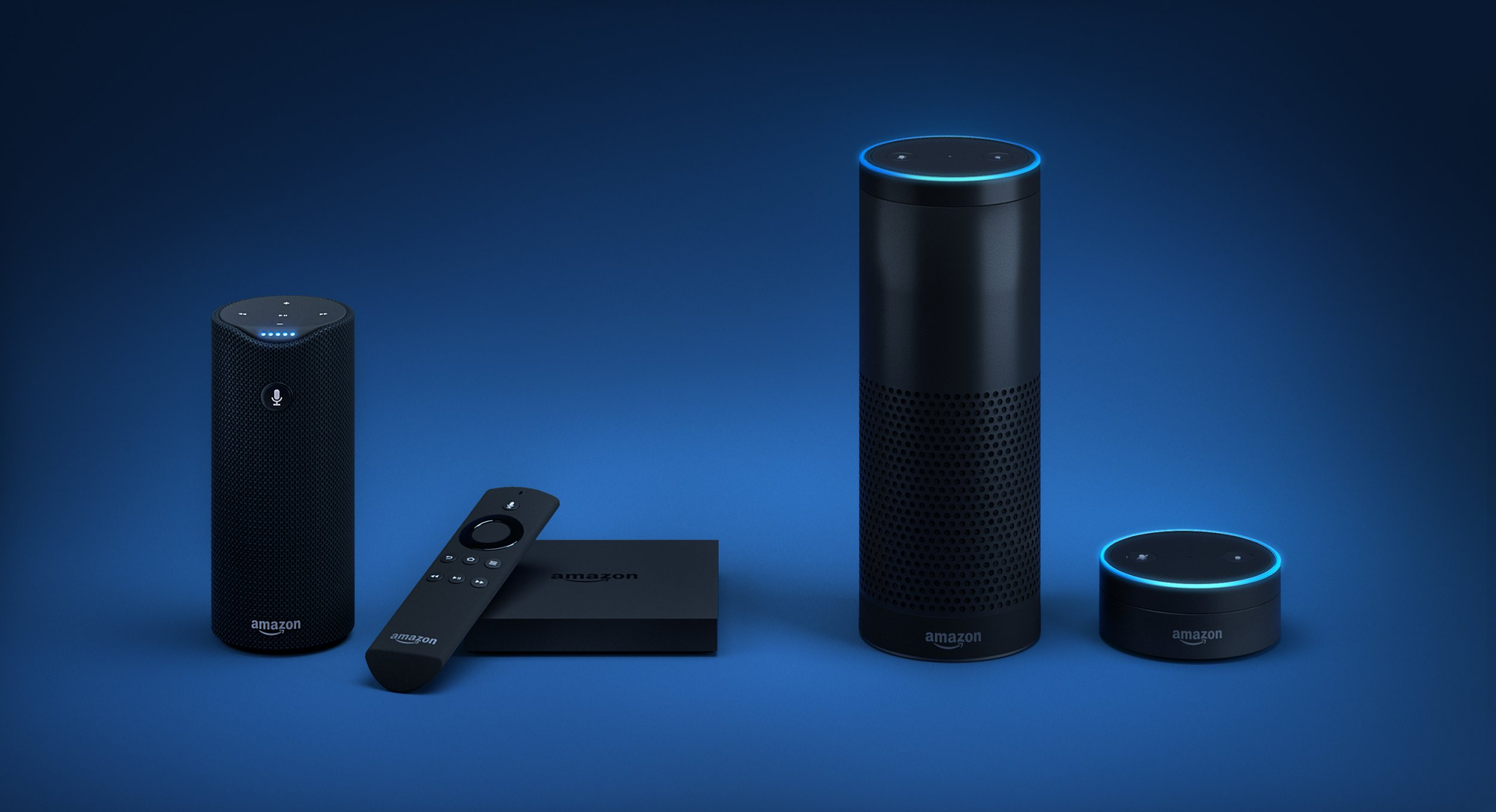 An Amazon Echo with a screen