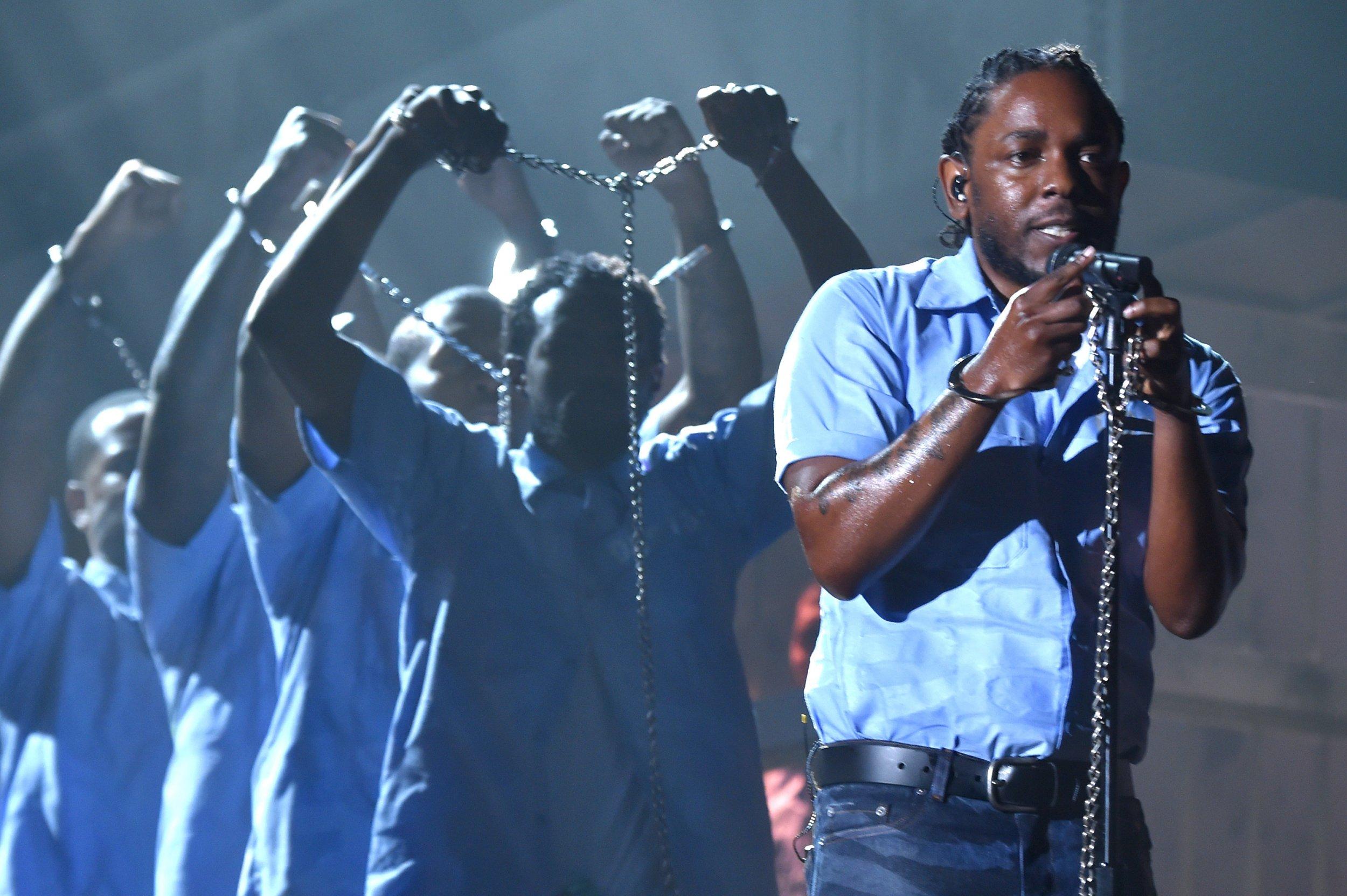 Kendrick Lamar at Grammys 2016