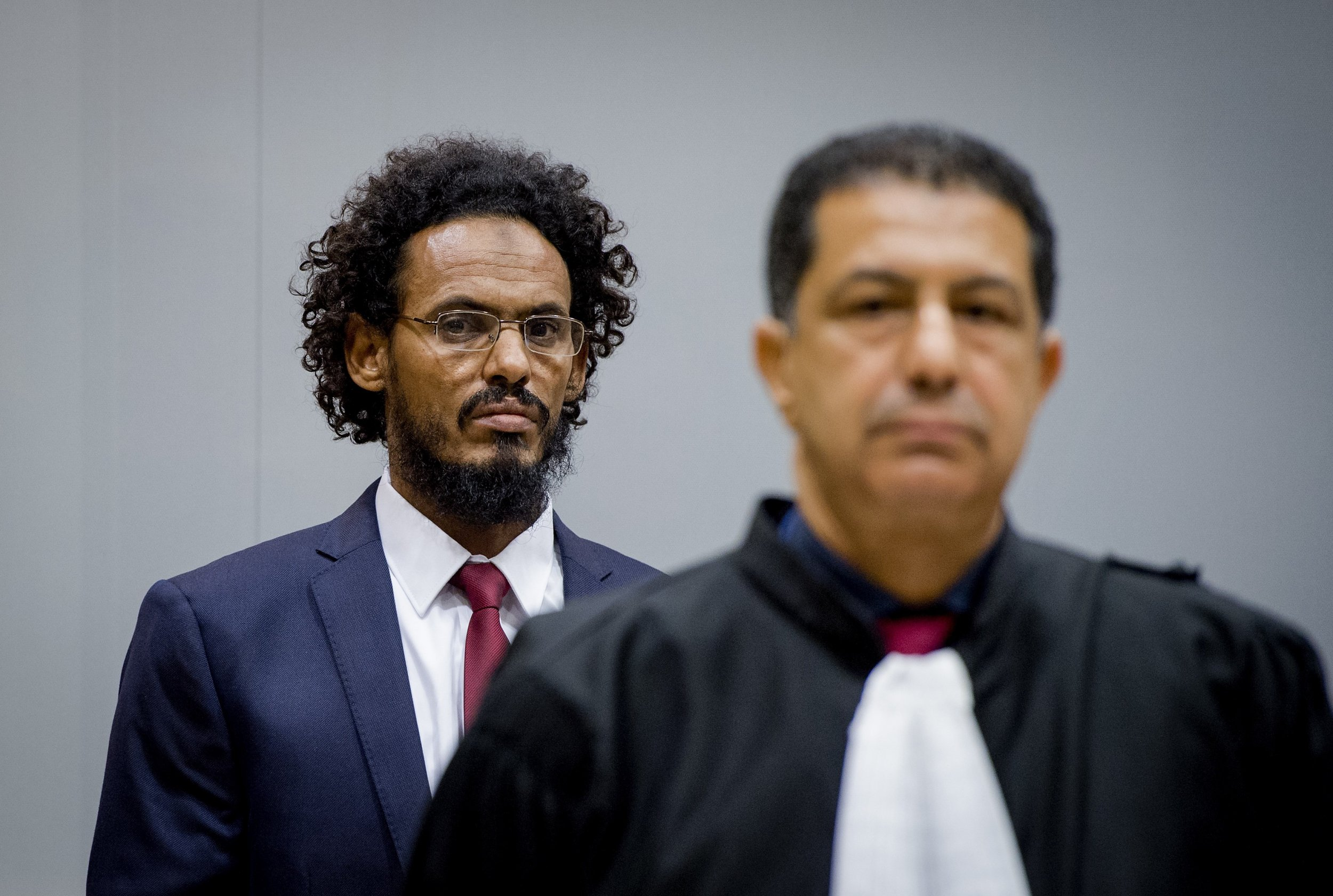 Ahmed Al-Faqi Al-Mahdi looks on at the ICC.