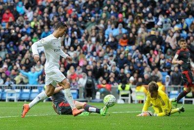 Cristiano Ronaldo scored four goals against Celta Vigo on Saturday.