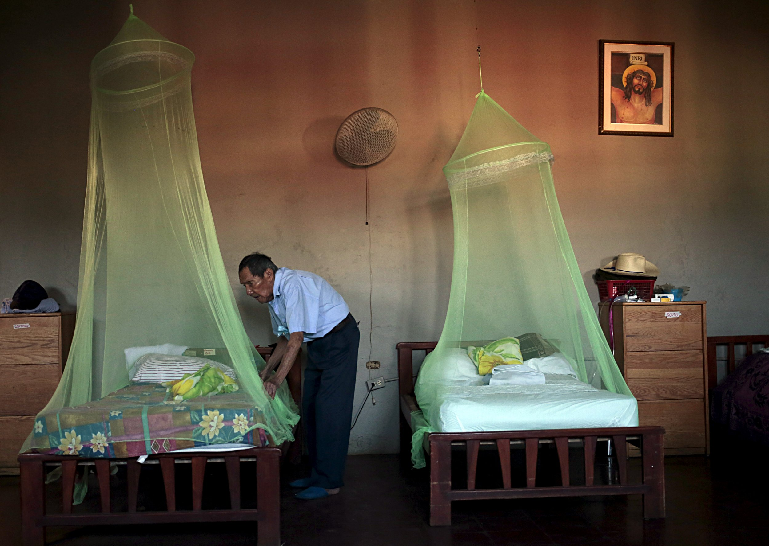 Mosquito nets in Nicaragua