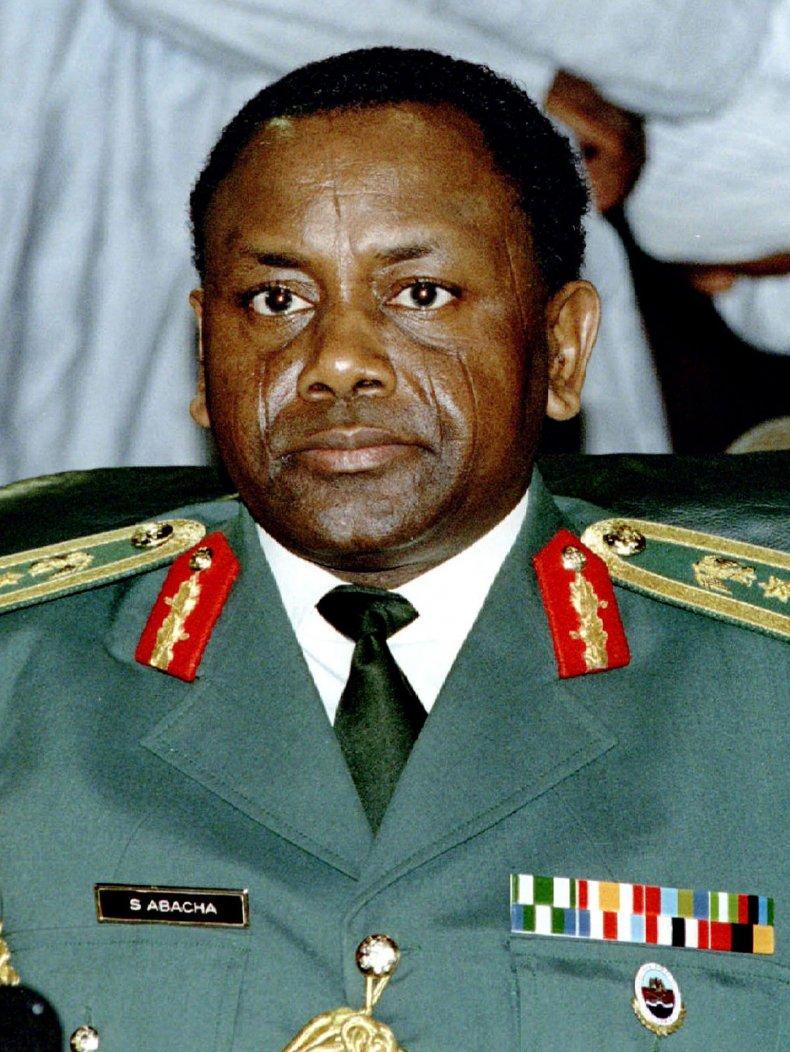 Late Nigerian military leader General Sani Abacha.
