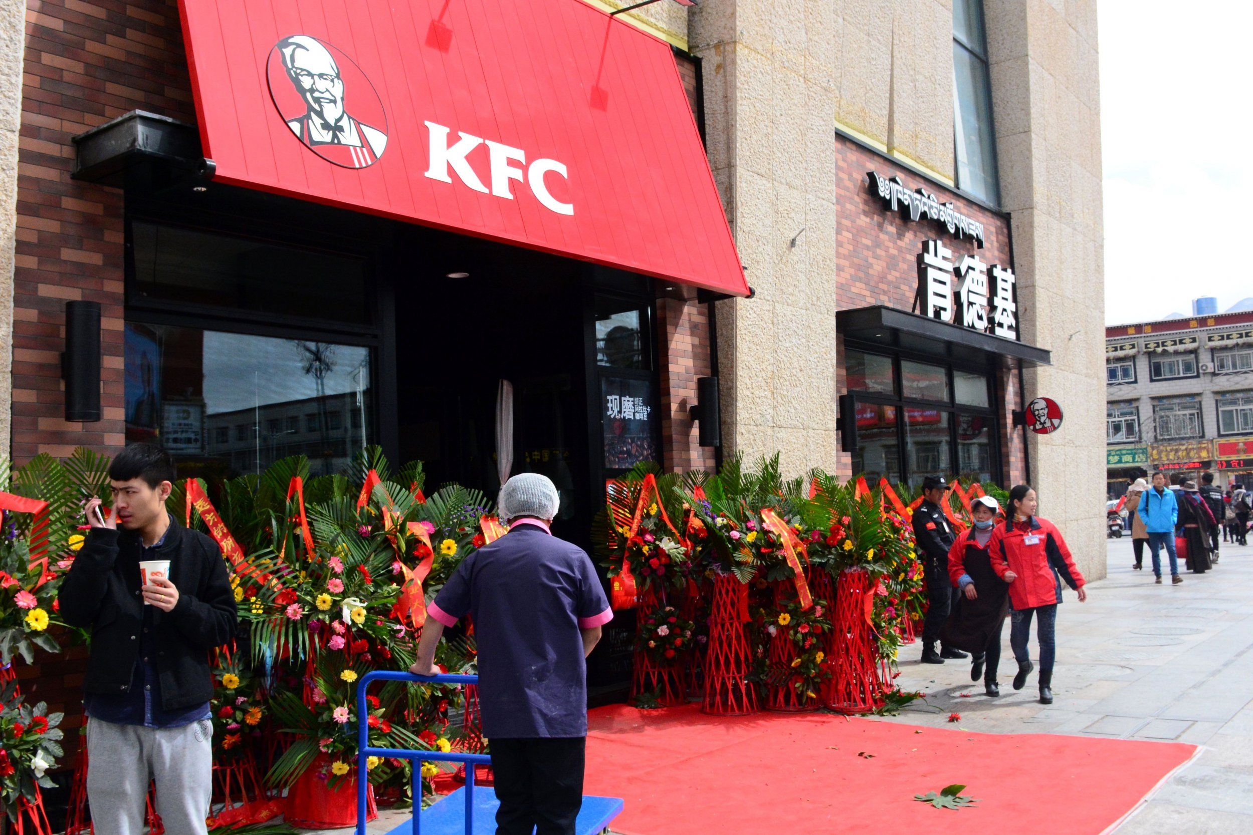 A KFC branch in Lhasa, Tibet.
