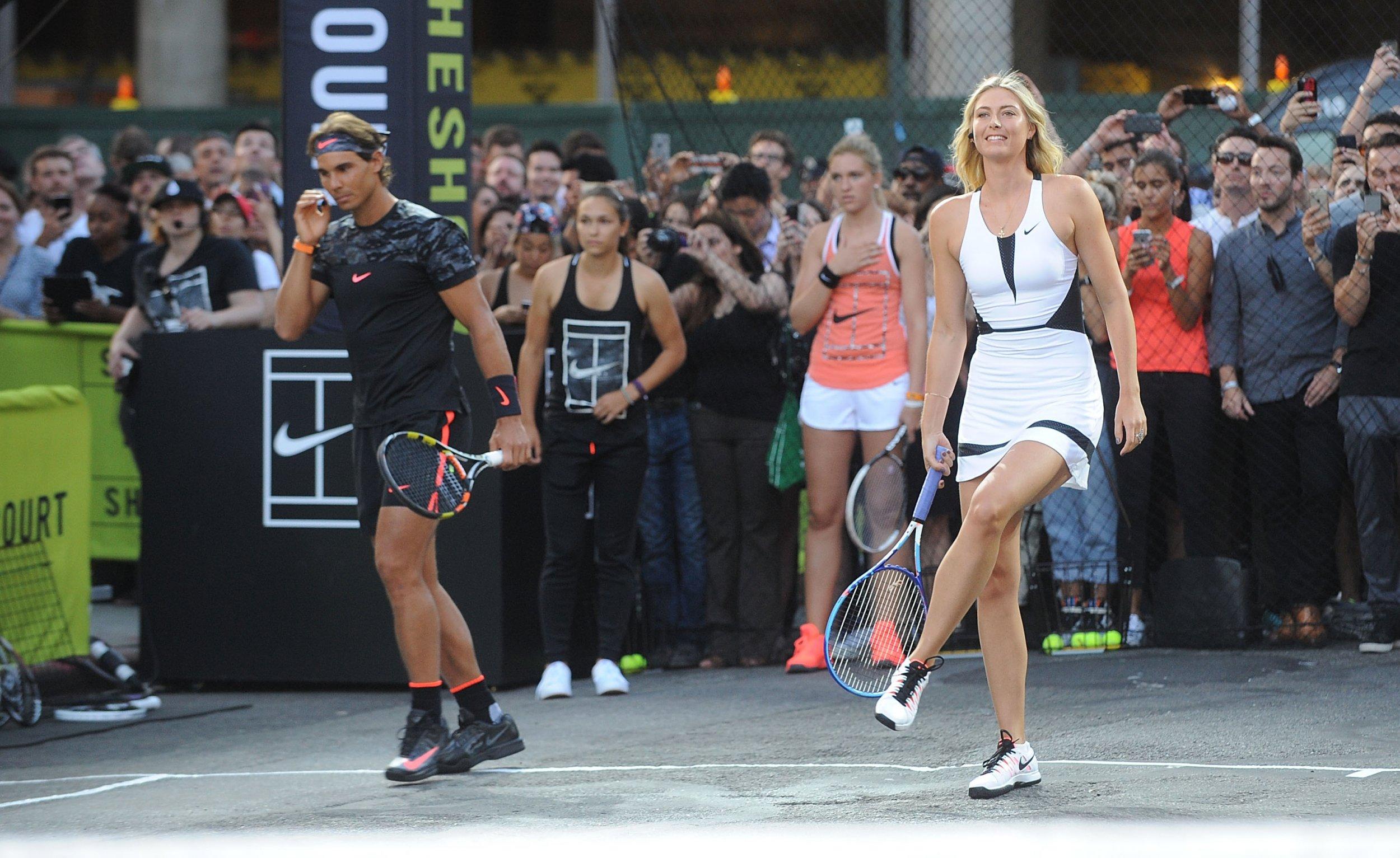 Rafael Nadal, left, believes Maria Sharapova should be 'punished' for her Meldonium positive drugs test.