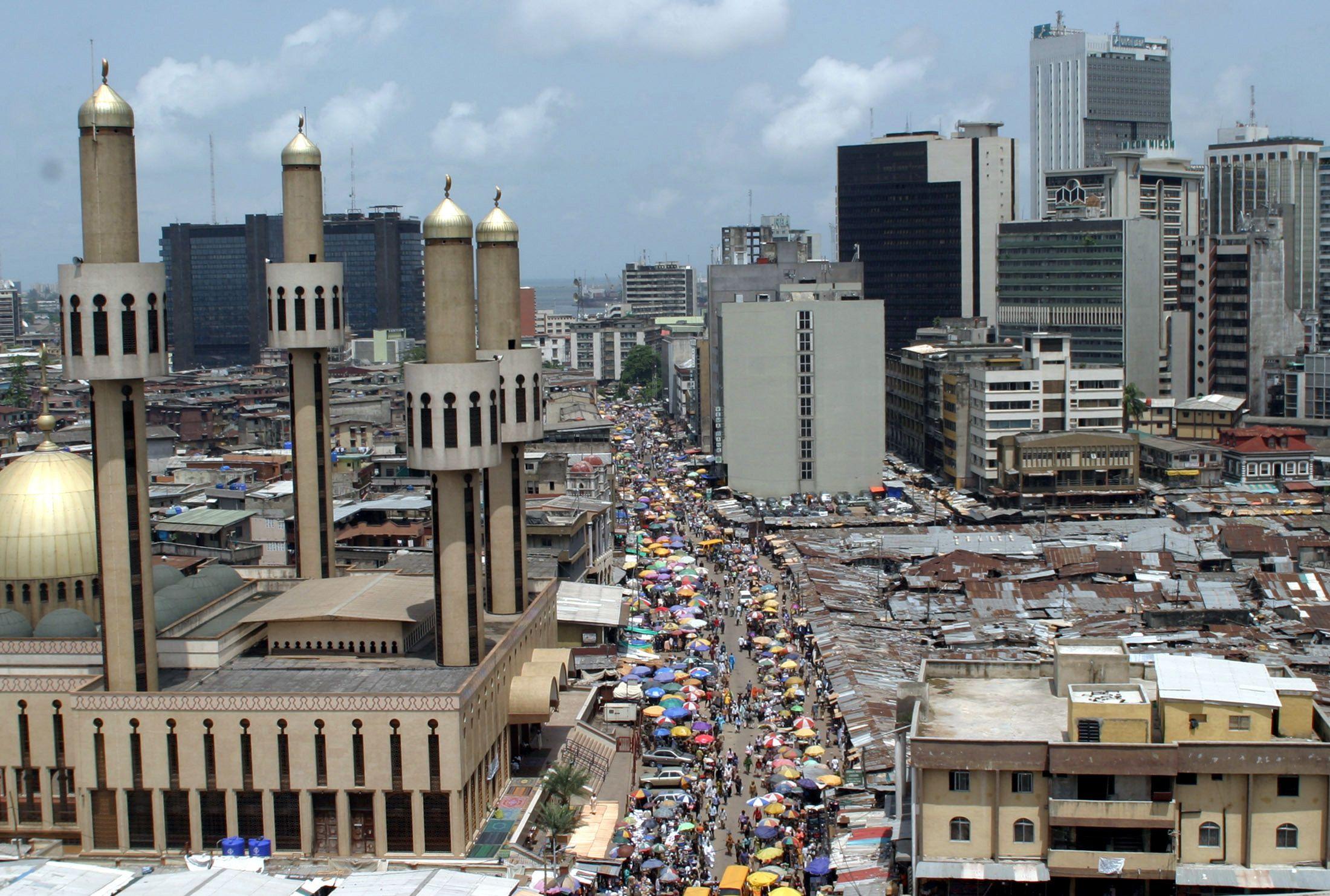 A busy Lagos street.