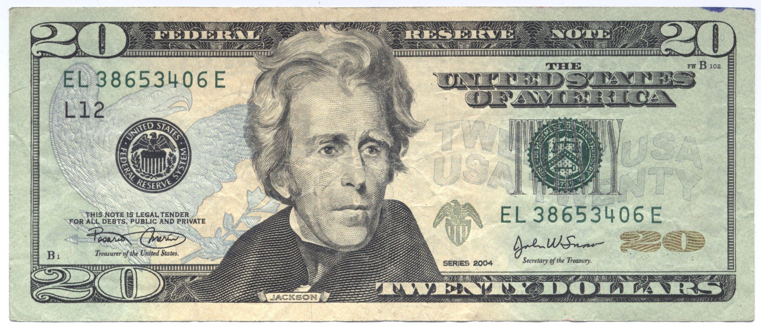 Us Dollar Bill Andrew Jackson Donald Trump