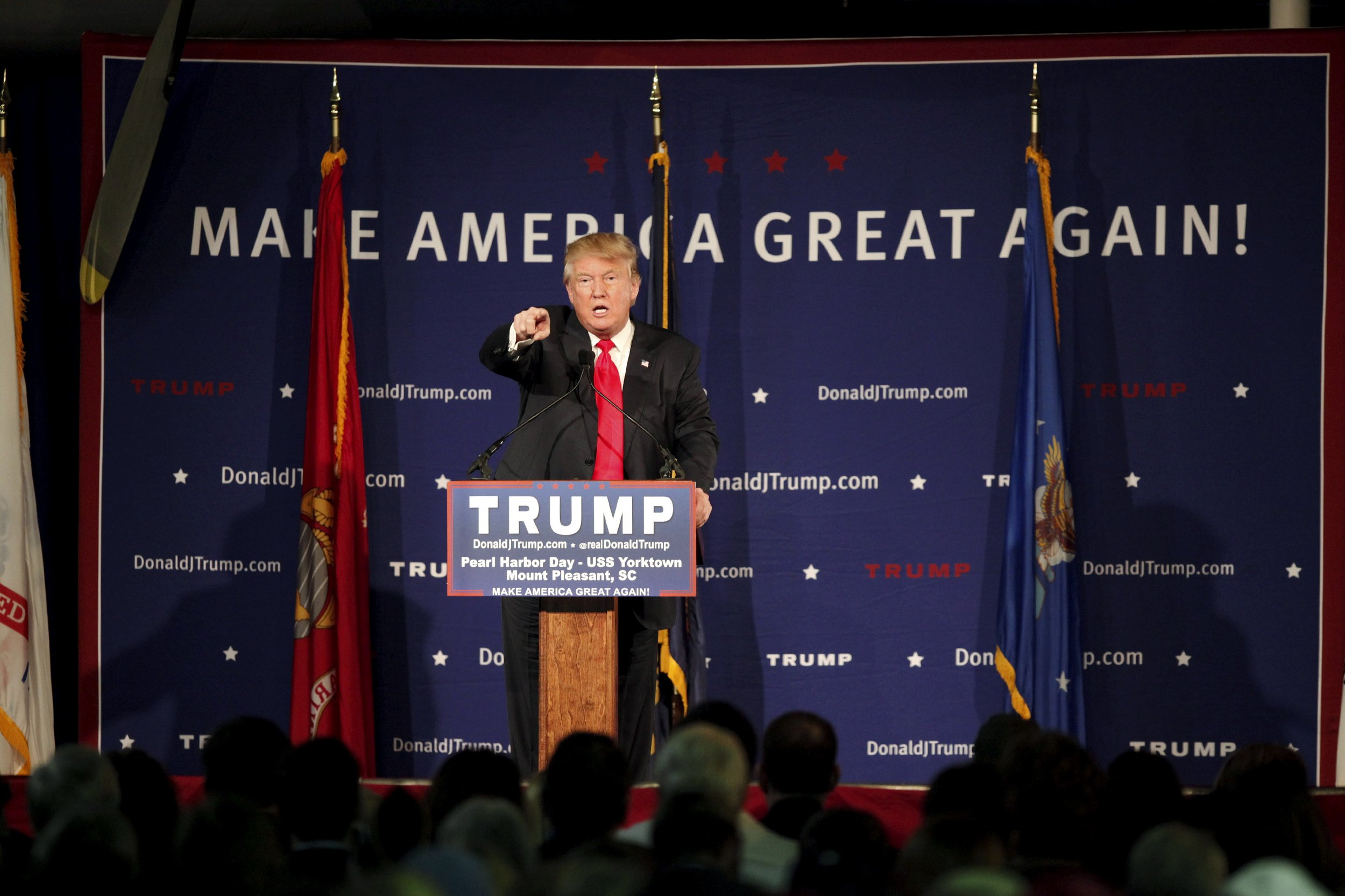 Republican presidential candidate Donald Trump at a rally.