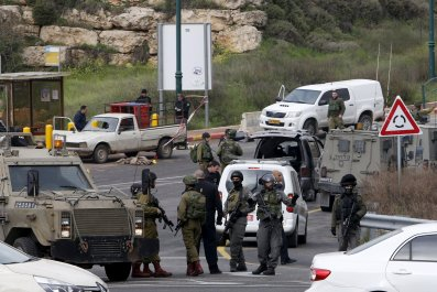 Israel West Bank Shooting Car-Ramming Stabbing