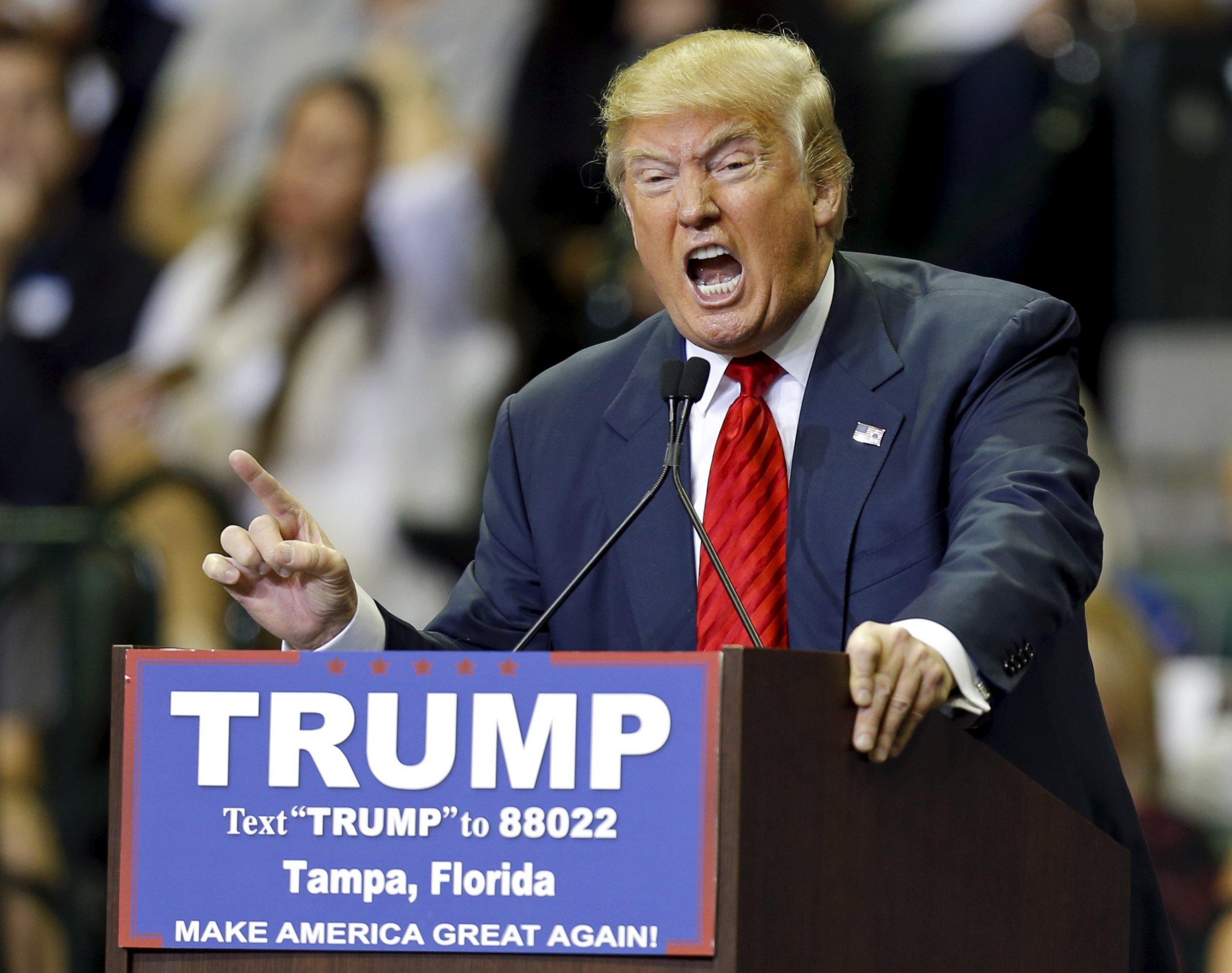 Donald Trump speaks at Florida rally