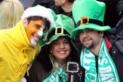 St Patrick's Day parade 2015 in Dublin