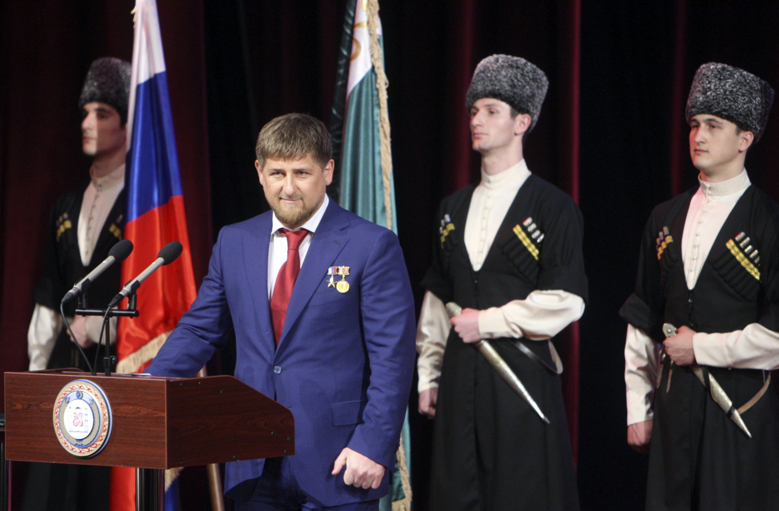 Kadyrov speaks in Grozny