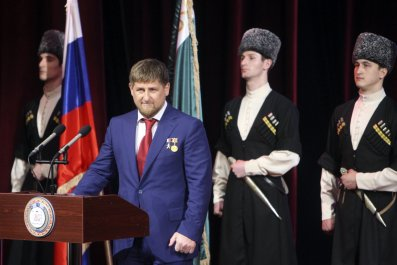Kadyrov speaks in Grozny