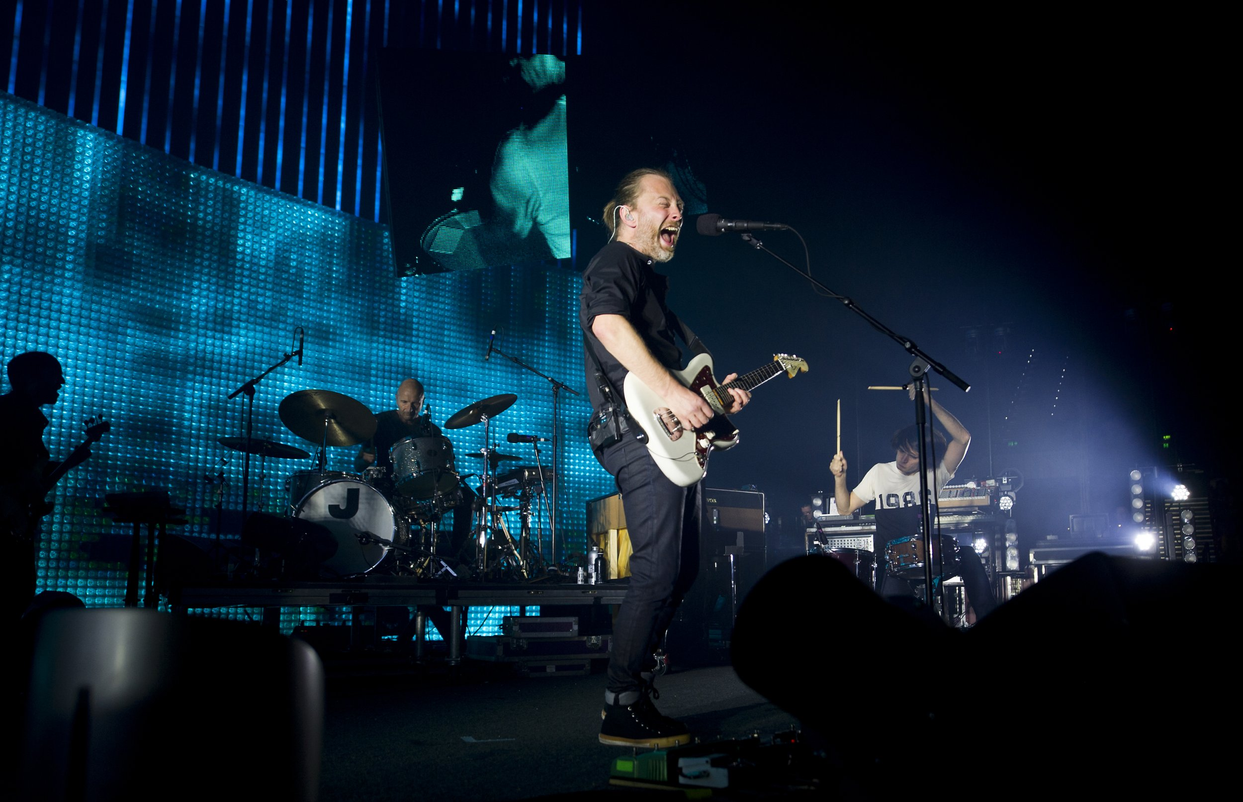 Radiohead Thom Yorke perform in Australia