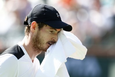Andy Murray fell to a shock defeat in Indian Wells overnight.