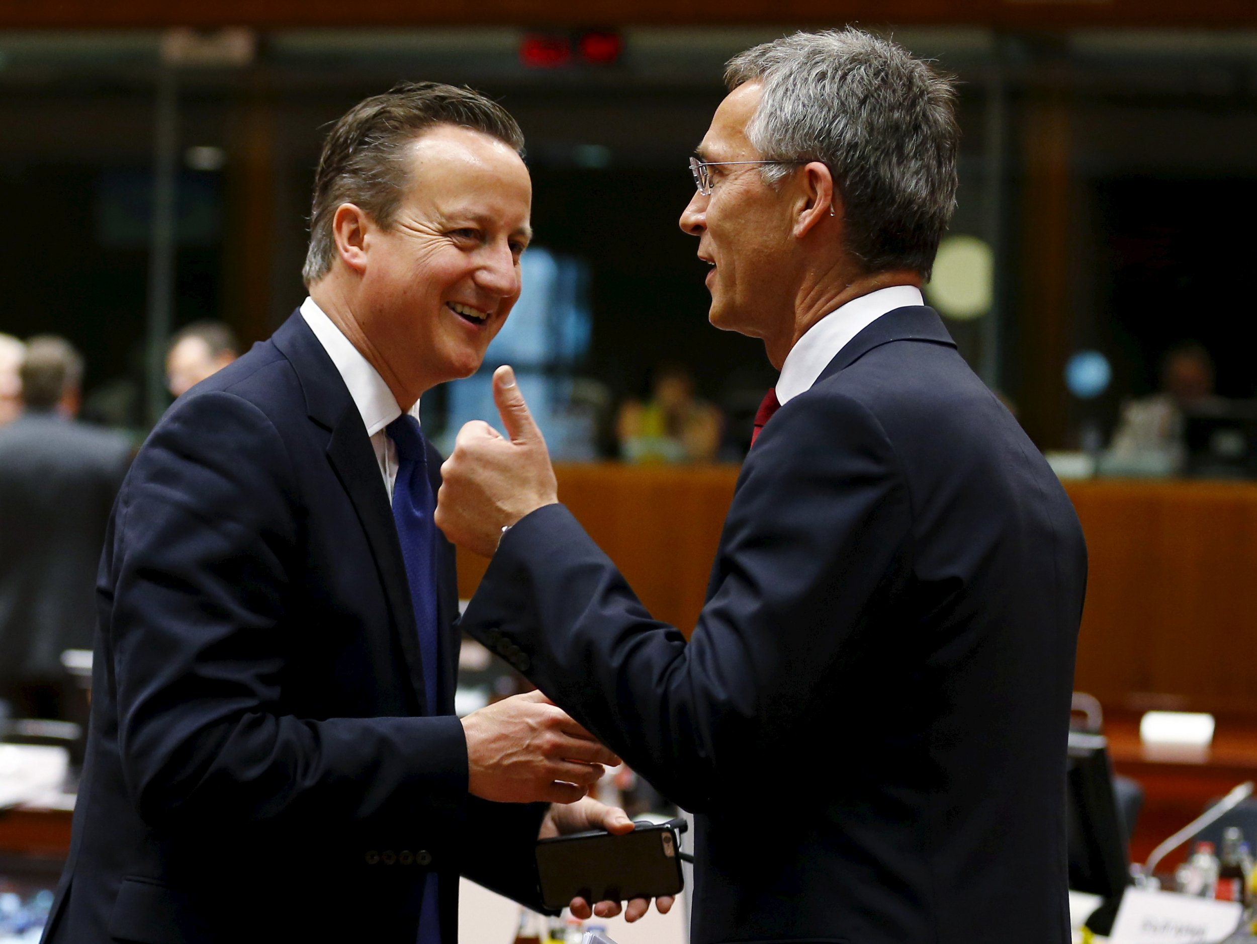Cameron and Stoltenberg