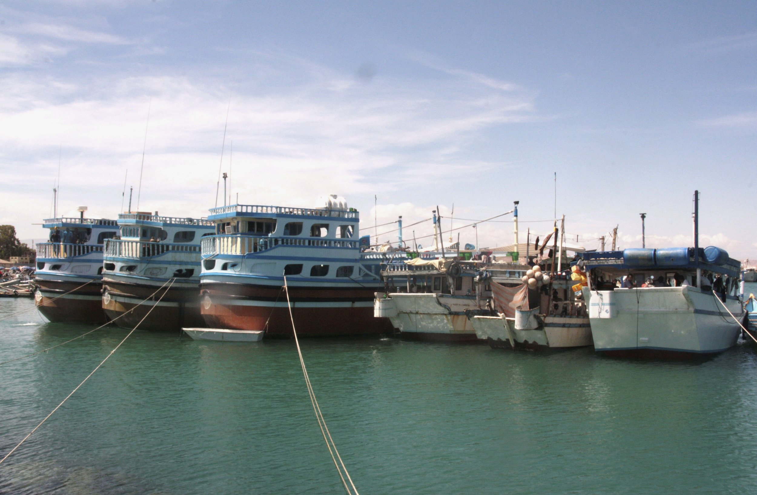 Fishing vessels in Puntland.