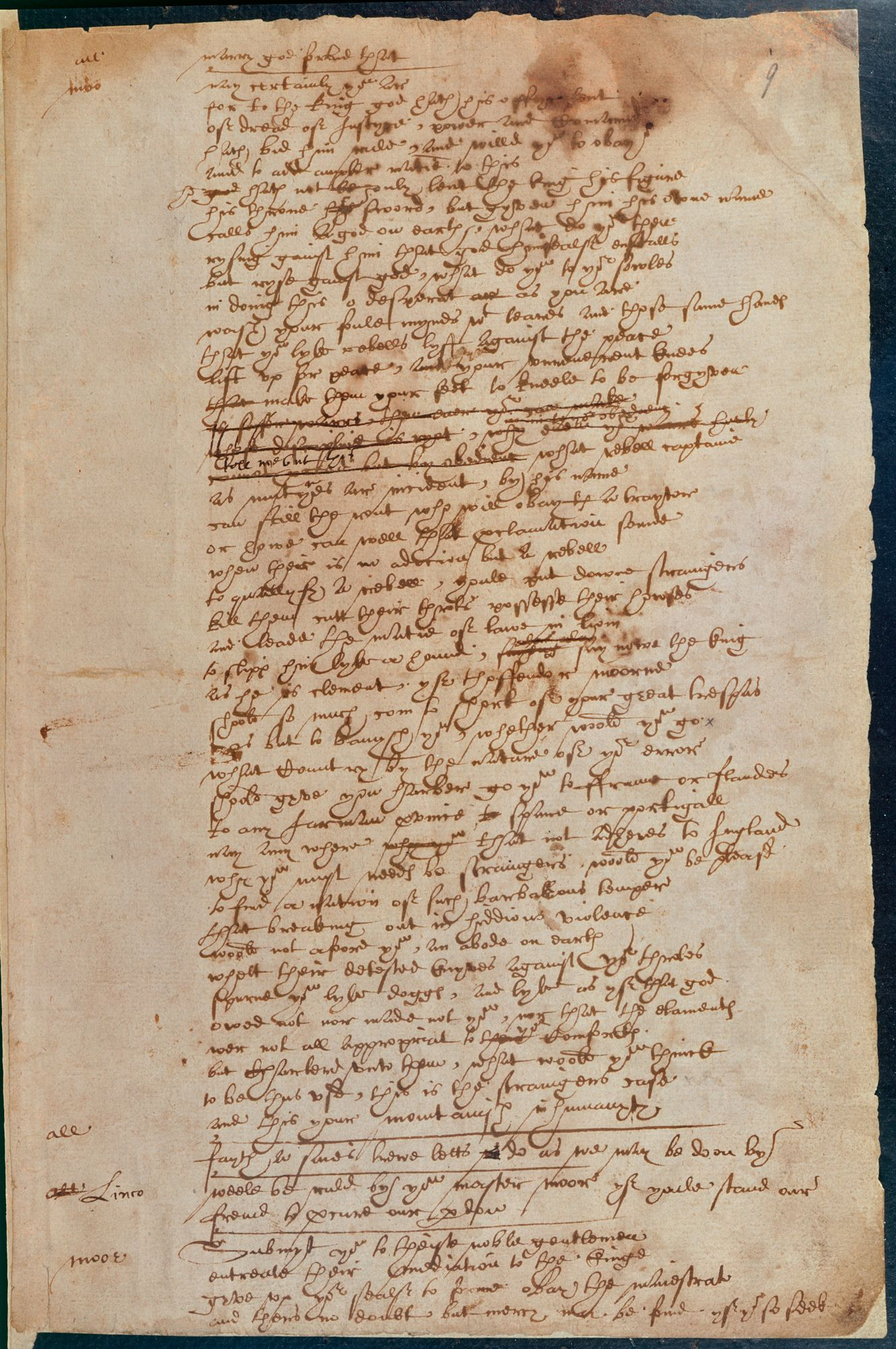 Shakespeare's handwriting in Book of Sir Thomas More