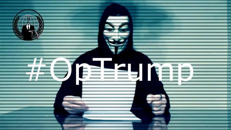 Anonymous Donald Trump OpTrump hackers