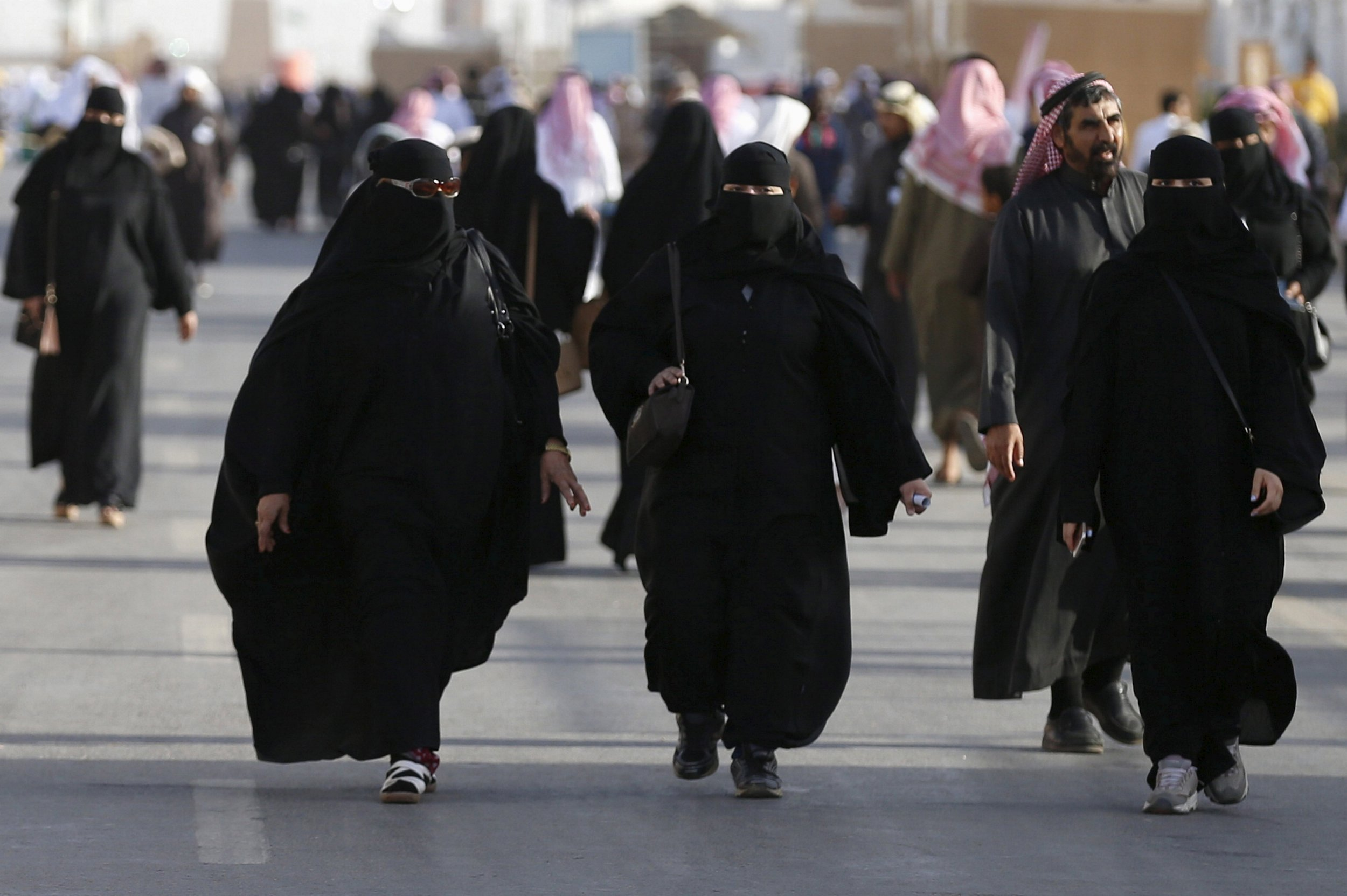 Saudi women attend a cultural festival near Riyadh.