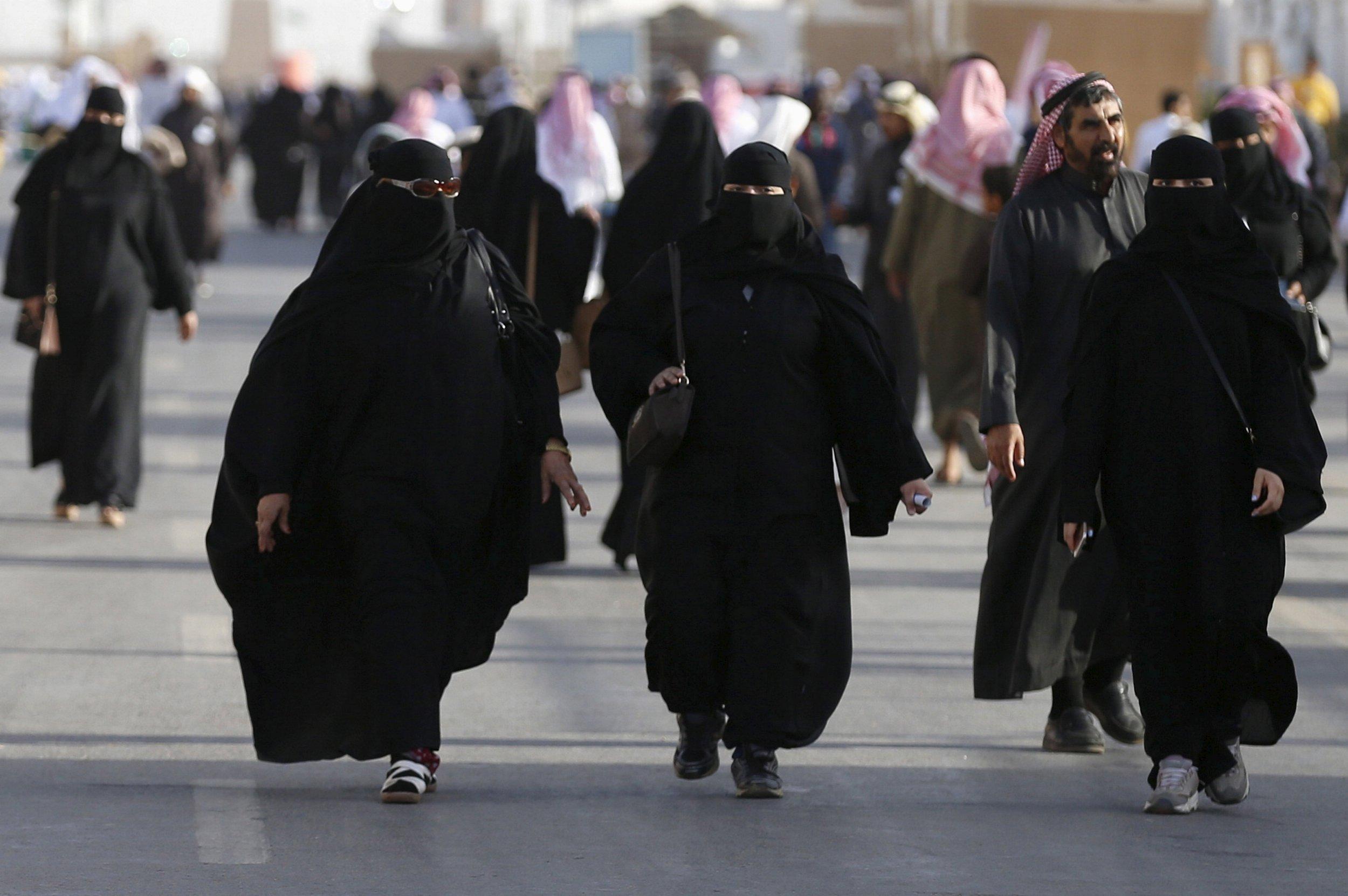 Saudi women attend a cultural festival near Riyadh.