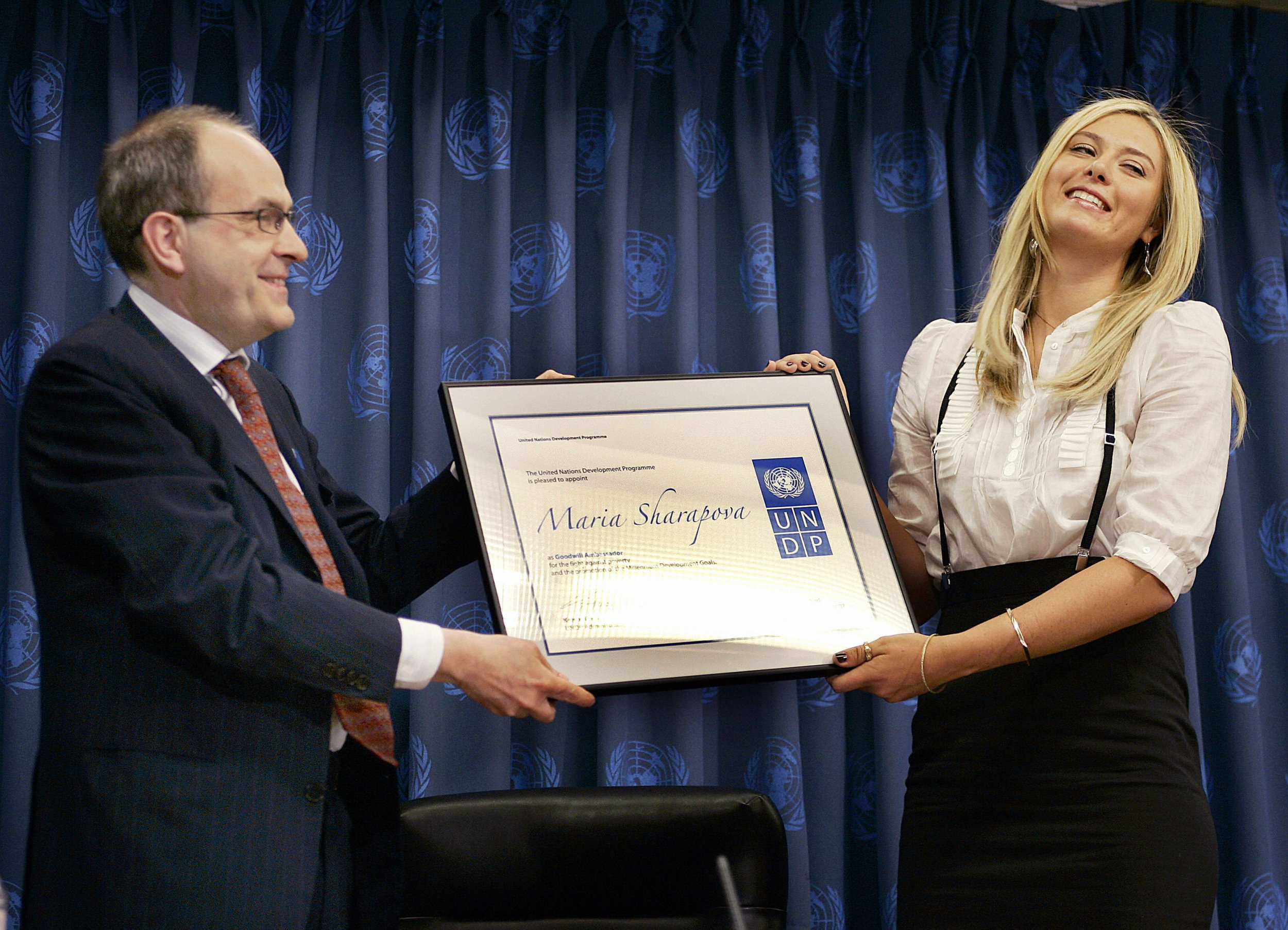 Maria Sharapova has been a UN Goodwill Ambassador for nine years.