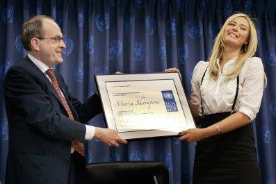 Maria Sharapova has been a UN Goodwill Ambassador for nine years.