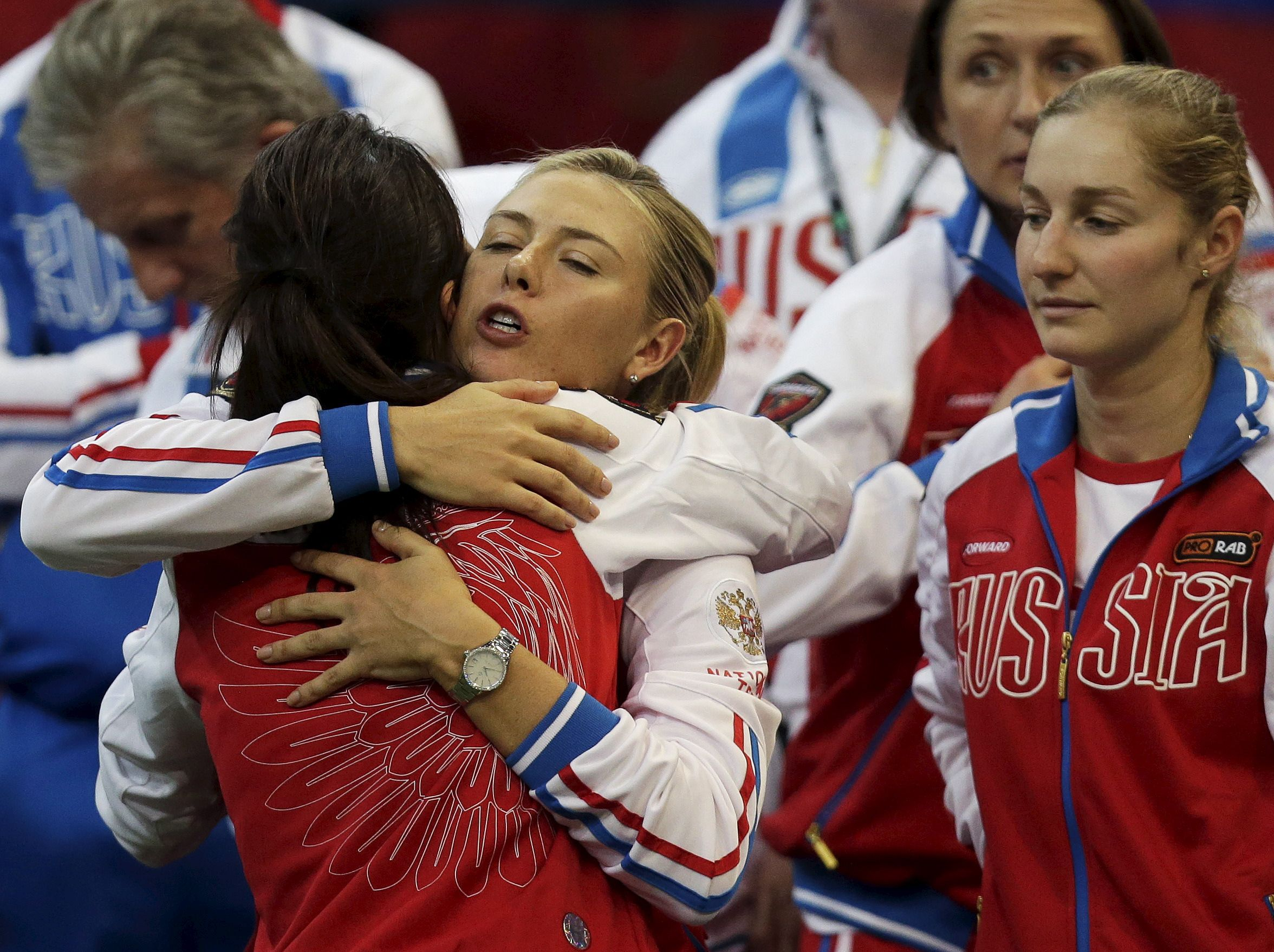 Sharapova and team Russia