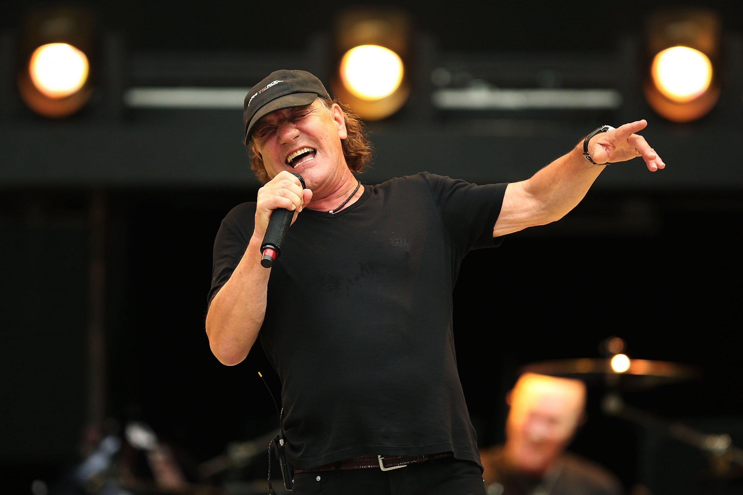 AC/DC's Brian Johnson performs