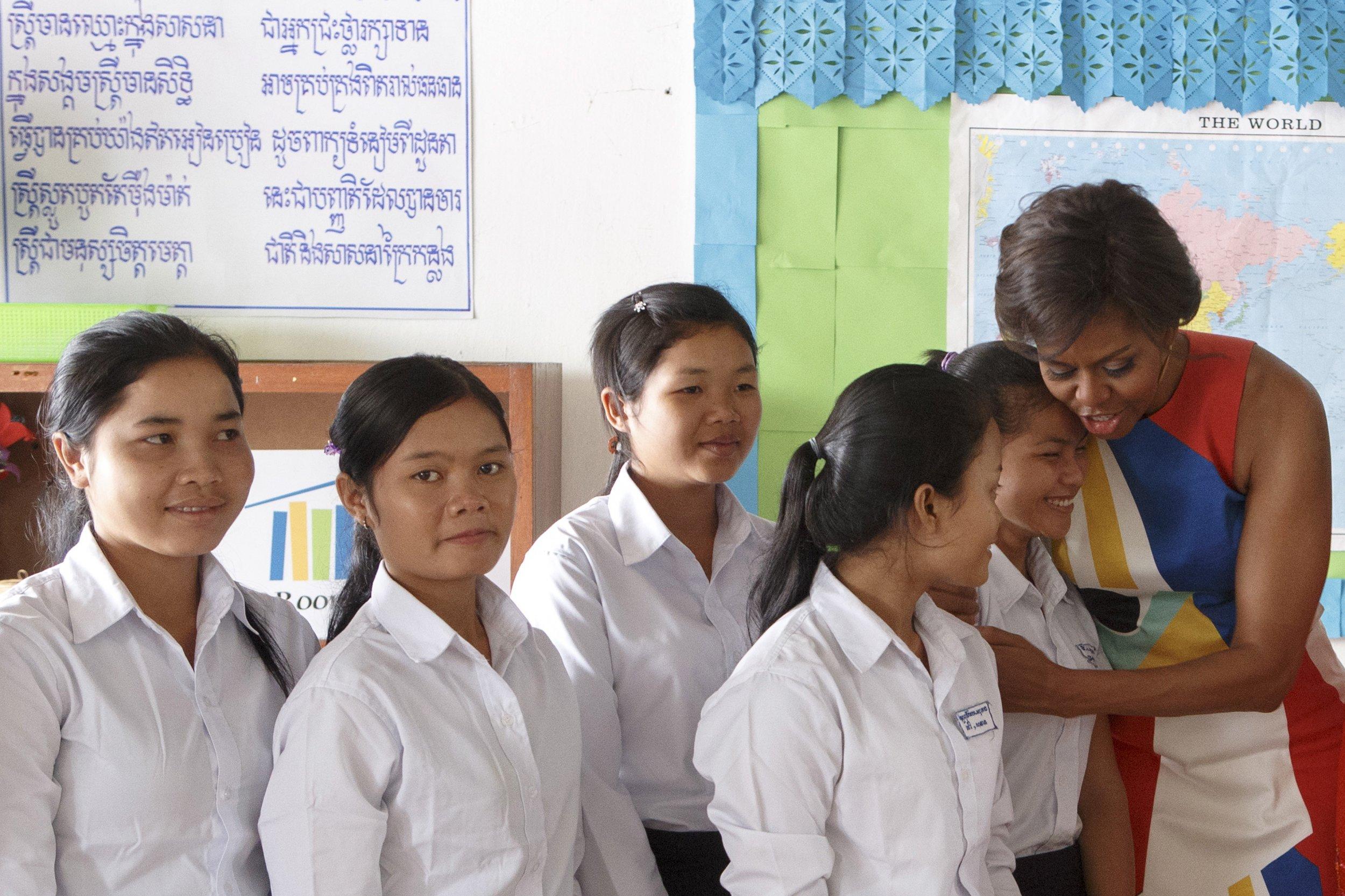 3-16-16 Michelle Obama Cambodia