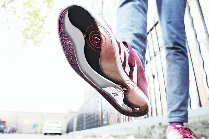 smart shoes path insoles walk parkinsons