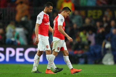 Arsenal suffered a 3-1 defeat to Barcelona in Camp Nou that ended its Champions League hopes.