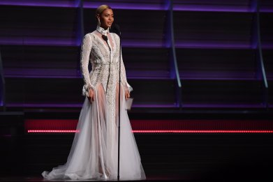 Beyonce at the 2016 Grammys