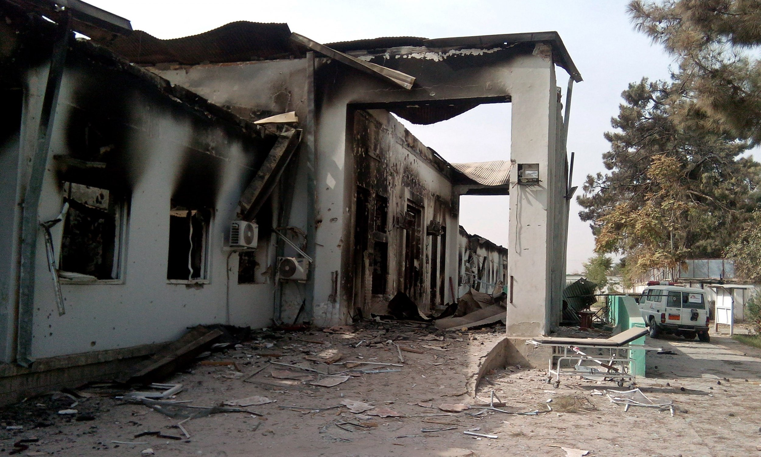 The damaged MSF hospital in Kunduz.