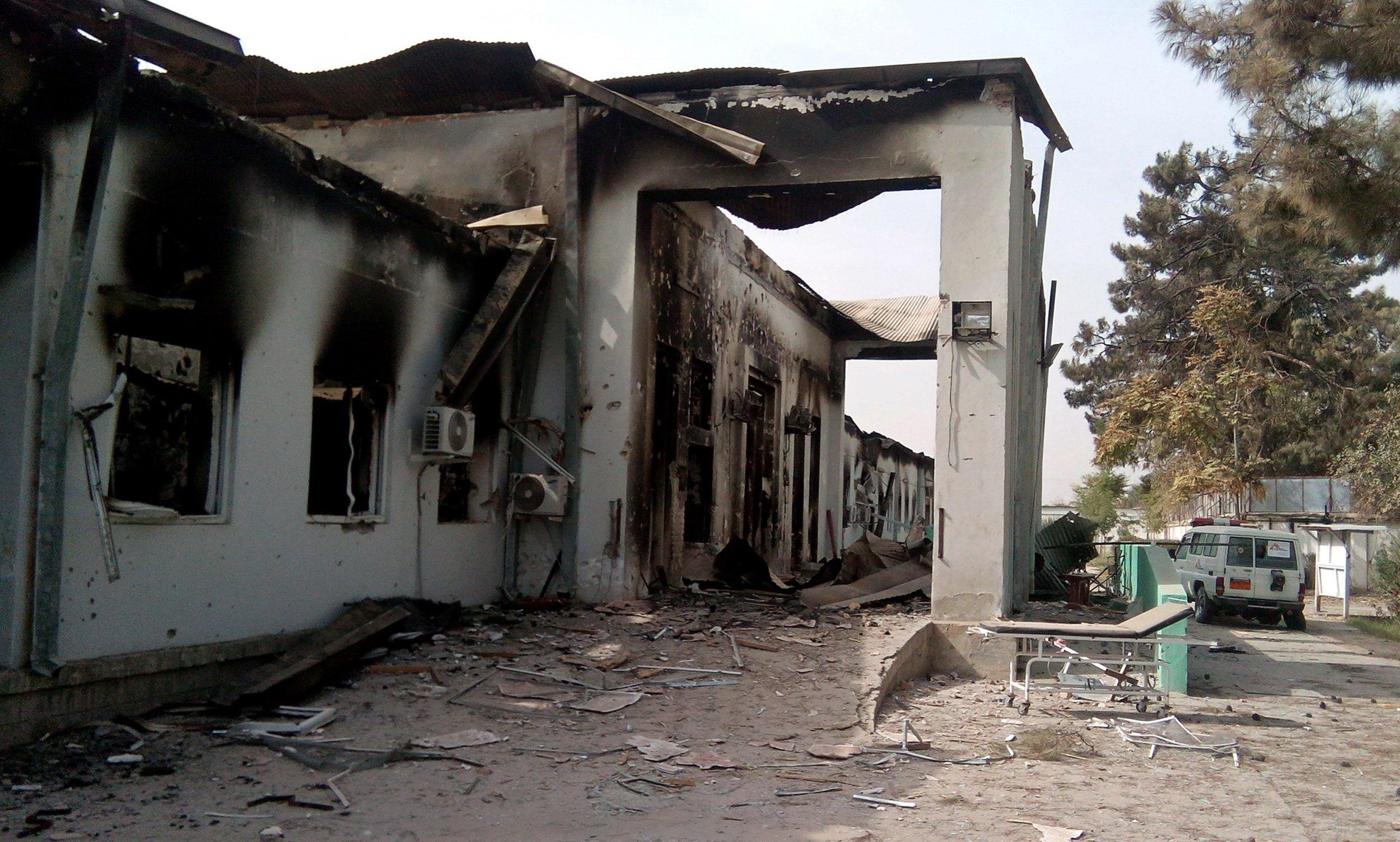 The damaged MSF hospital in Kunduz.