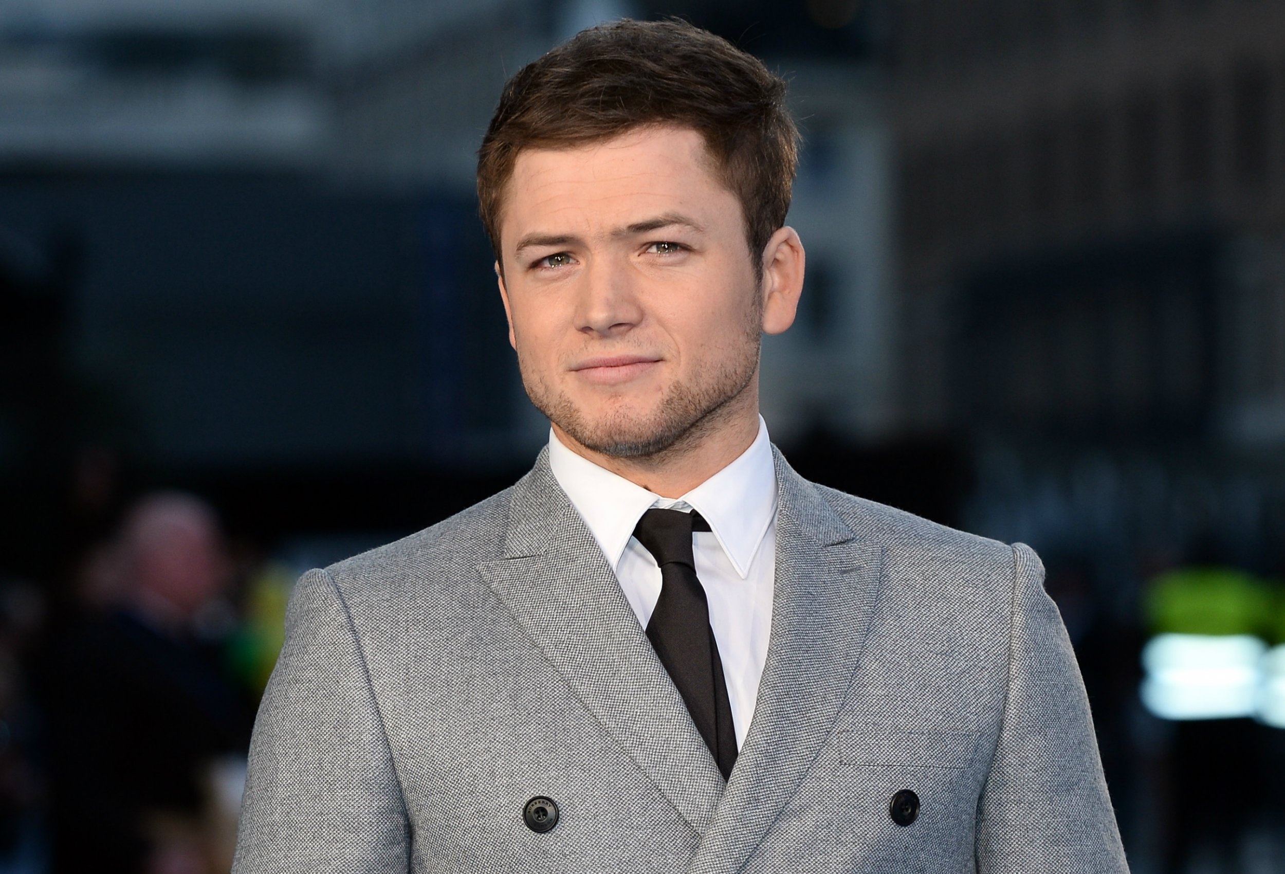 Taron Egerton at Eddie the Eagle premiere