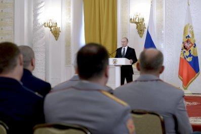 Putin speaks in Kremlin