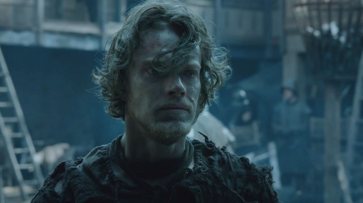 Theon Greyjoy/Reek played by Alfie Allen