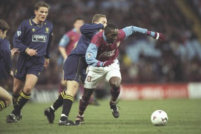 Dwight Yorke played for Manchester United and Aston Villa in a stellar career.