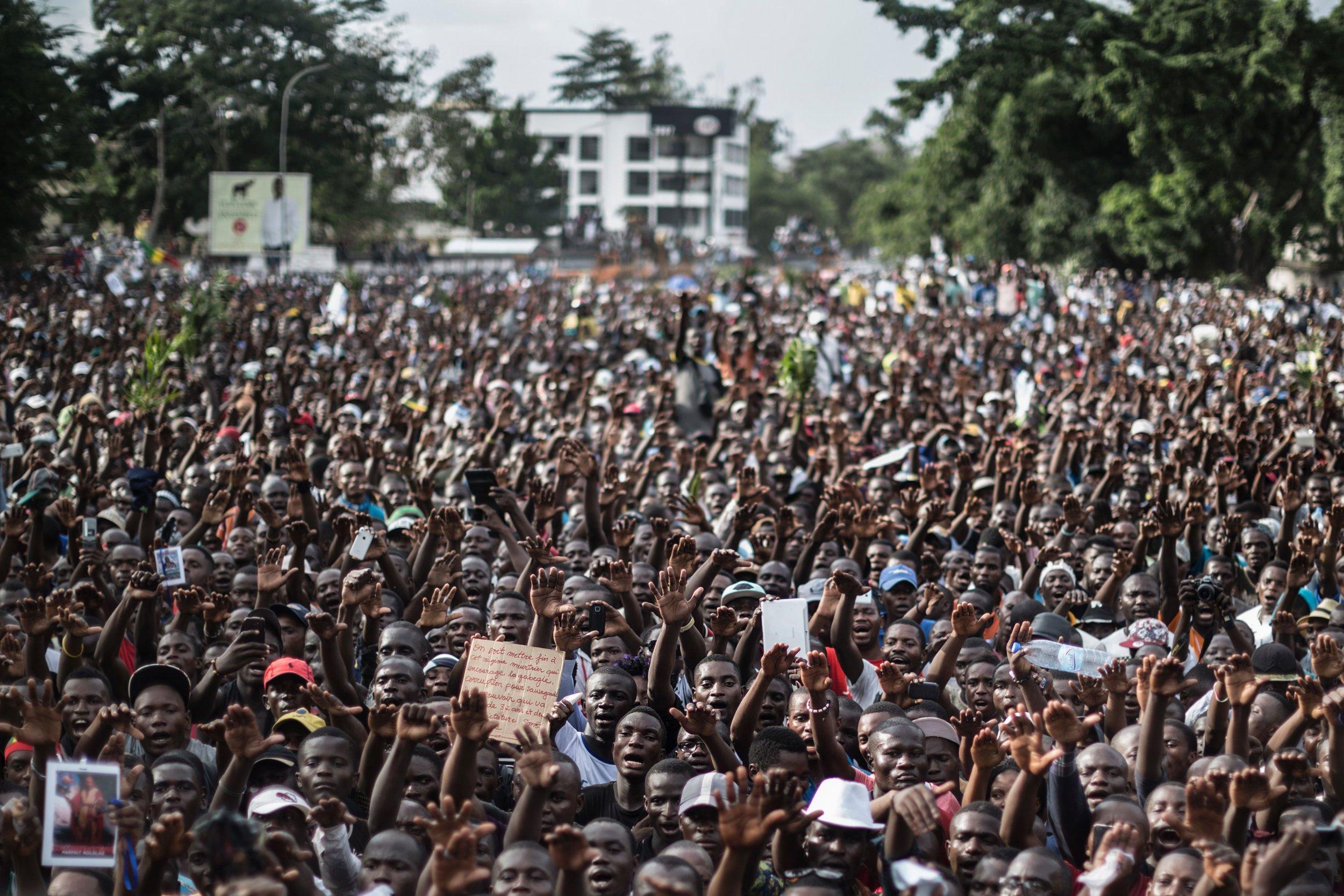 Republic of Congo political rally.