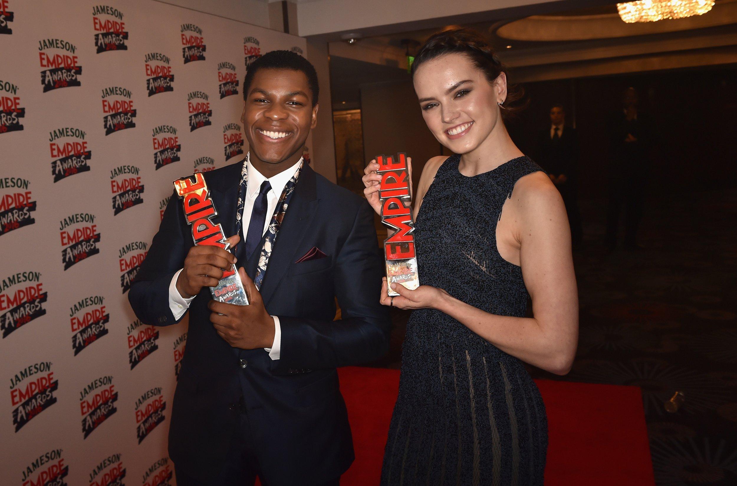 Daisy Ridley and John Boyega at Empire Awards 2016