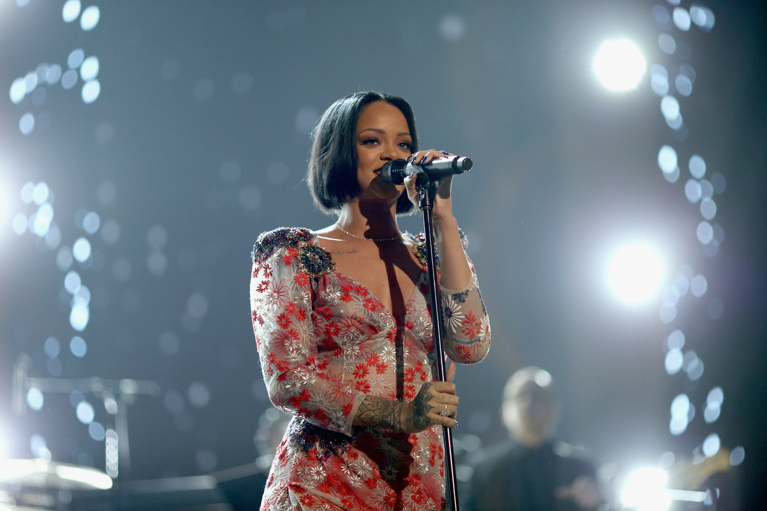 Rihanna performs at MusiCares
