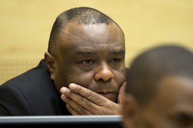 Former Congo vice-president Jean-Pierre Bemba at the ICC.
