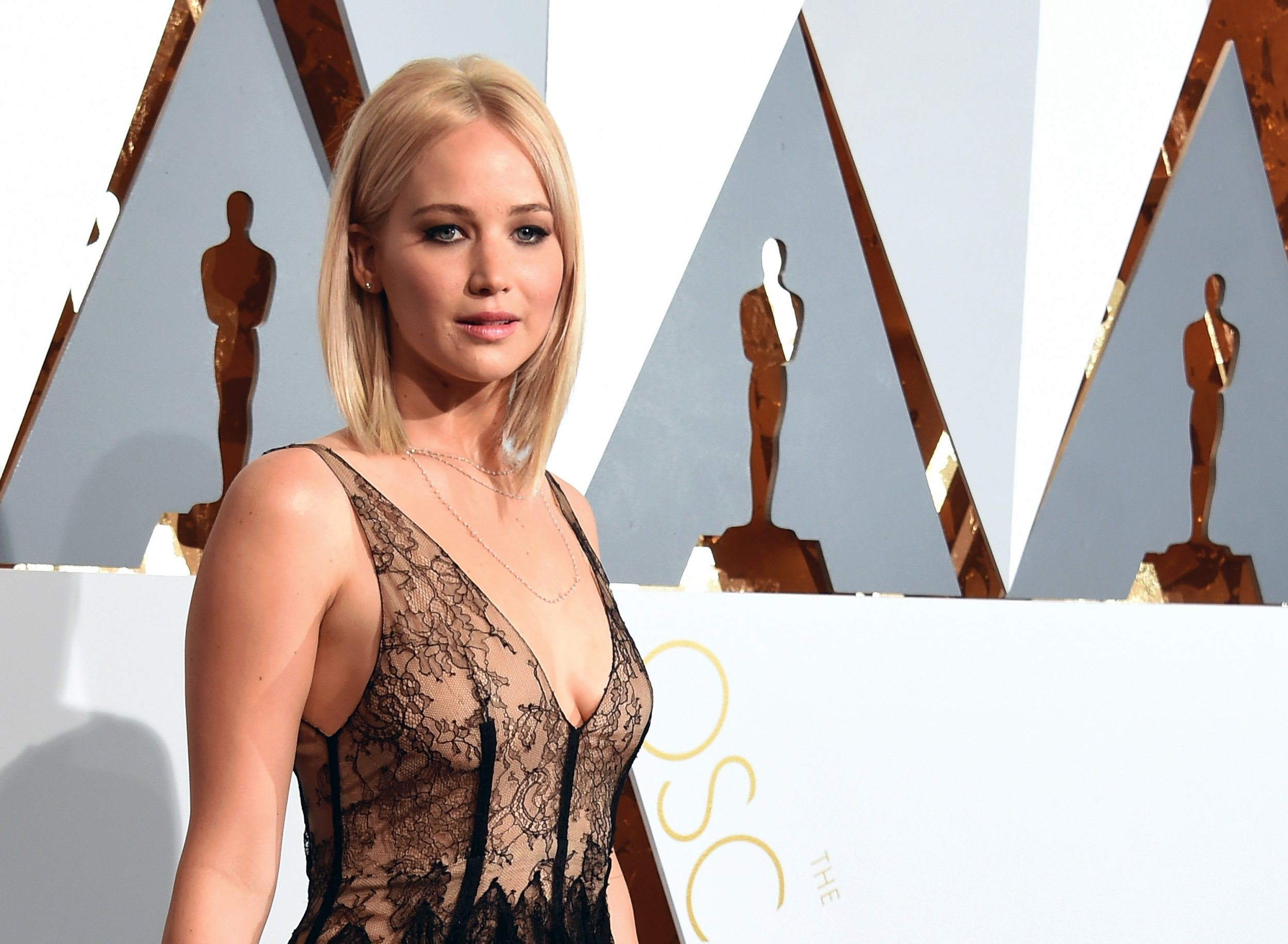 Jennifer Lawrence attends the 88th Annual Academy Awards in Hollywood ...