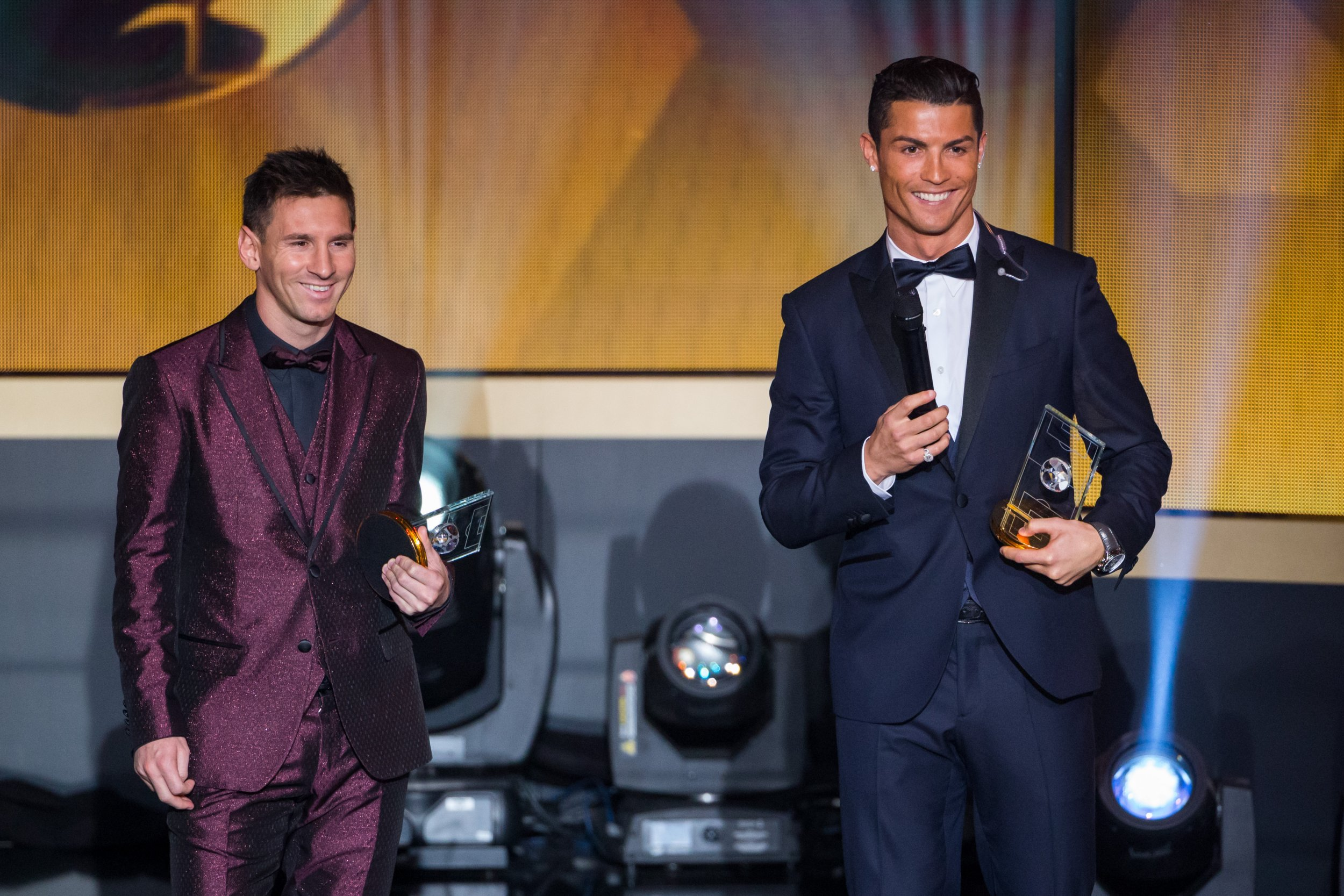 Lionel Messi, left, and Cristiano Ronaldo are recognized as the world's two best footballers.