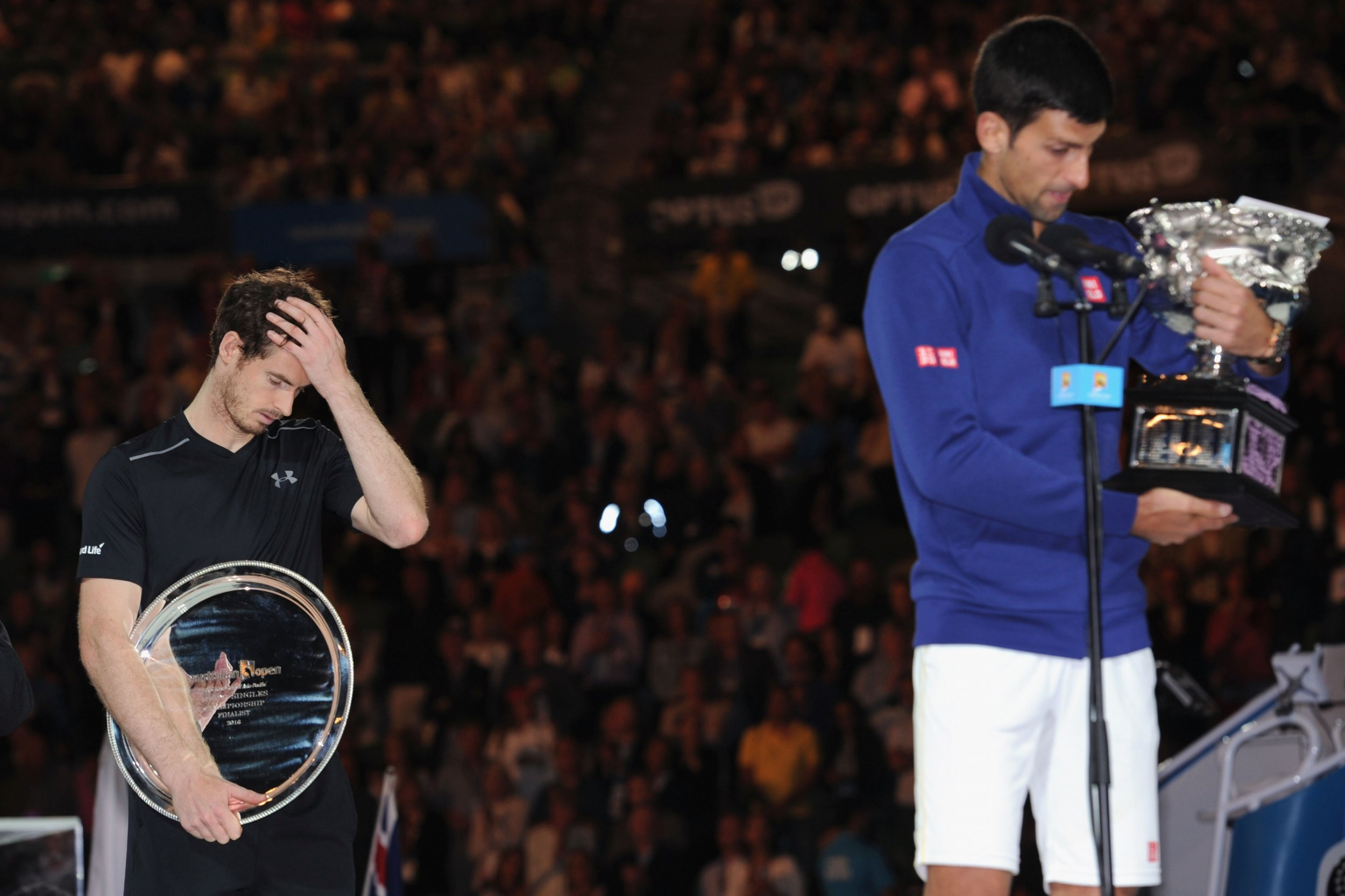 Andy Murray, left, has criticised Novak Djokovic's views on equal pay in tennis.