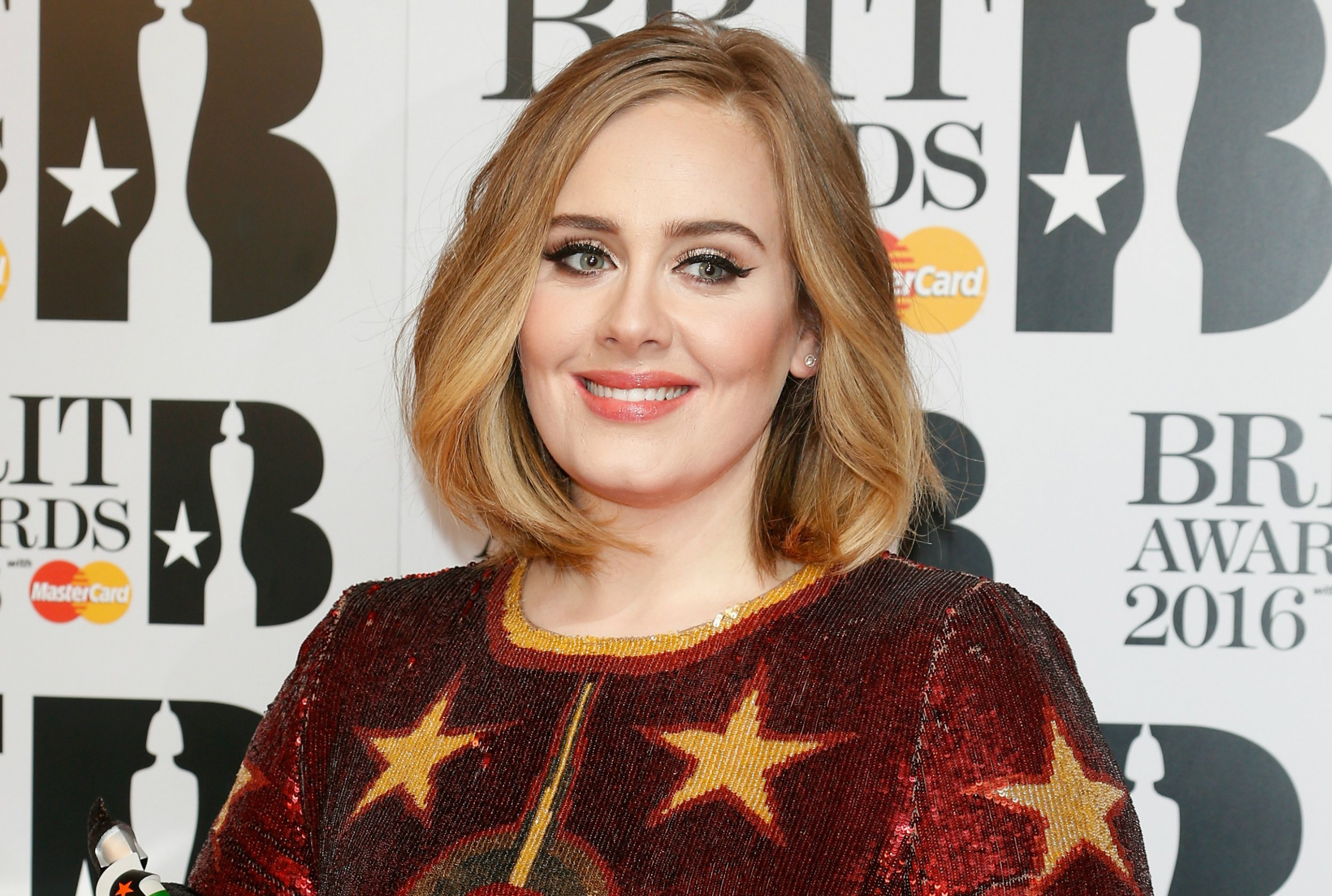 Adele at the Brit Awards 2016