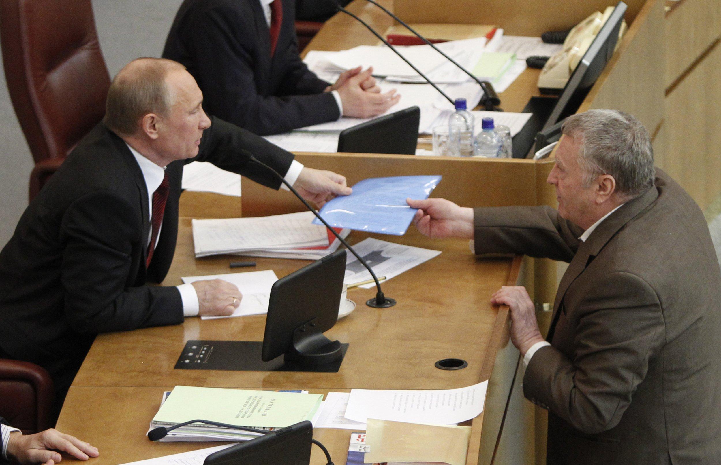 Putin and Zhirinovsky