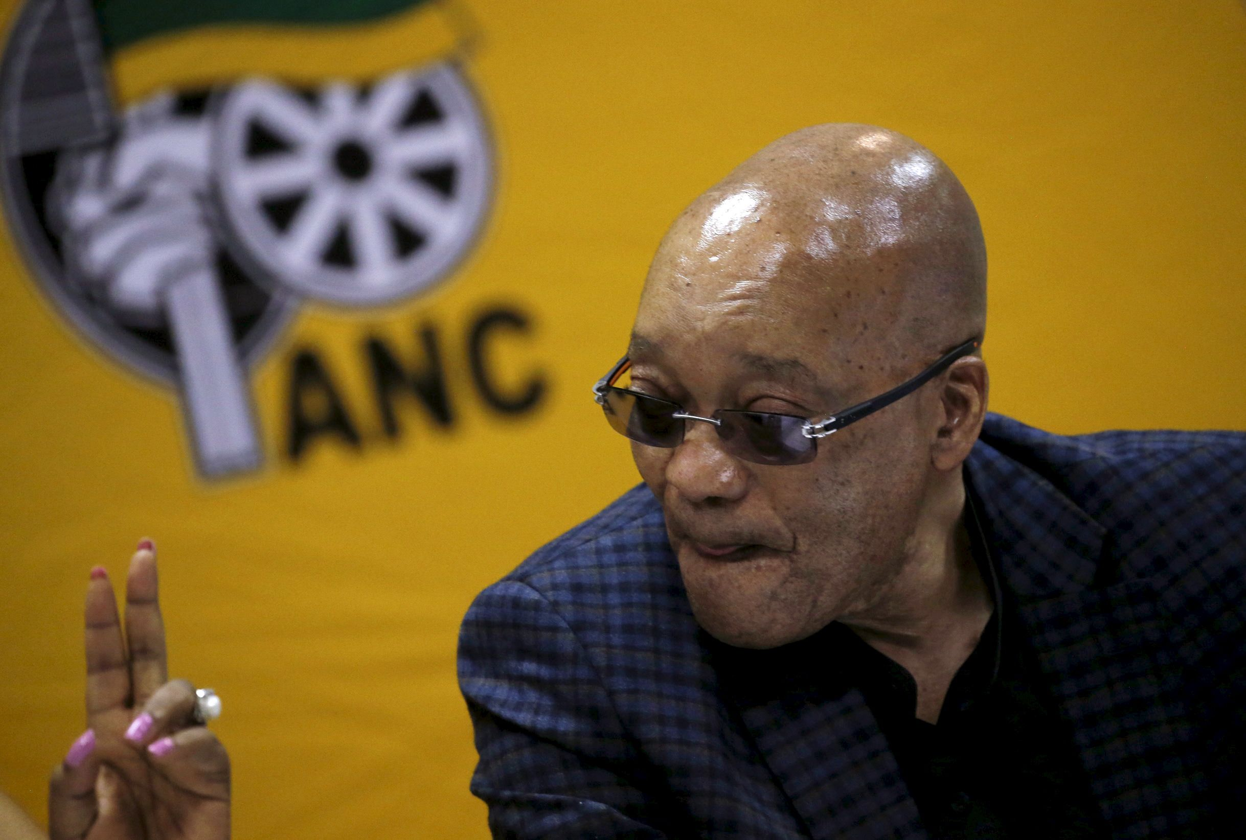 Jacob Zuma attends an ANC meeting in Pretoria.