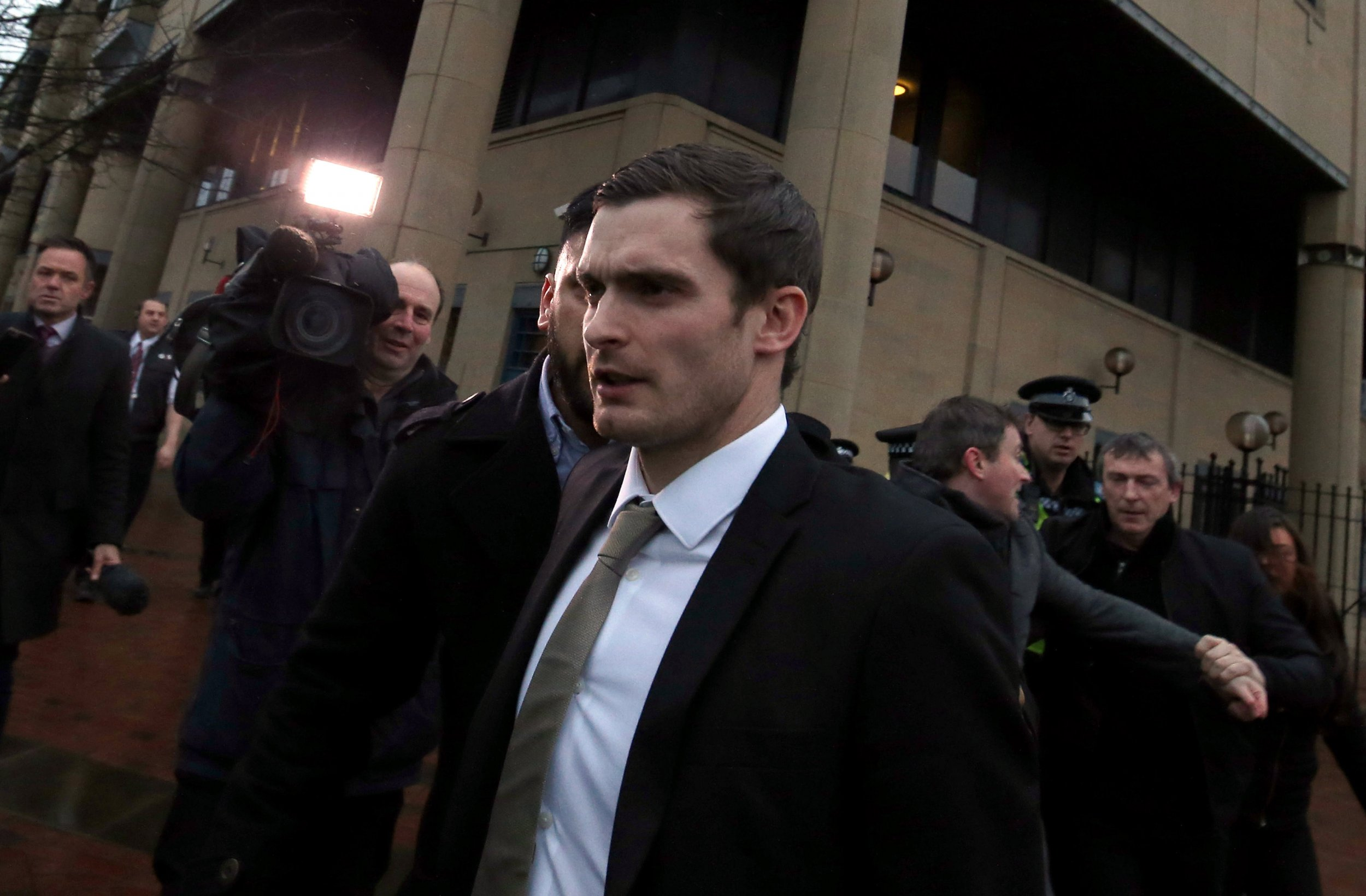 Adam Johnson was sentenced to six years' imprisonment at Bradford Crown Court for child sex offences.